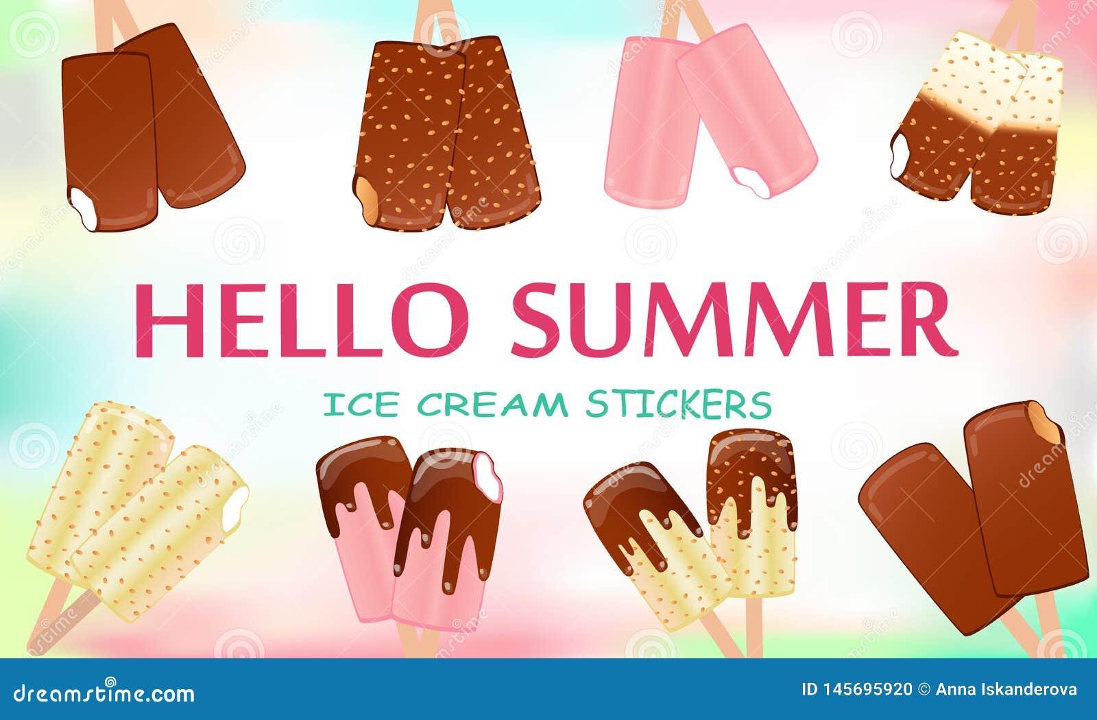 Sammlung Vektorillustrationen der Eiscreme