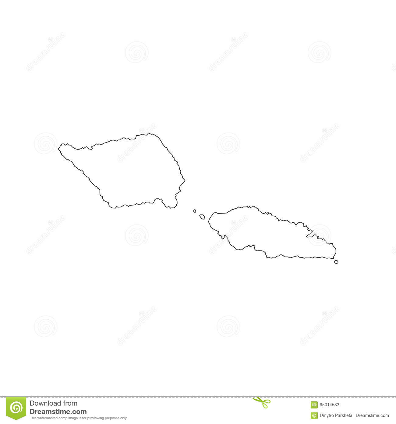 Samoa Map Outline Stock Vector Image Of World North - Samoa map vector
