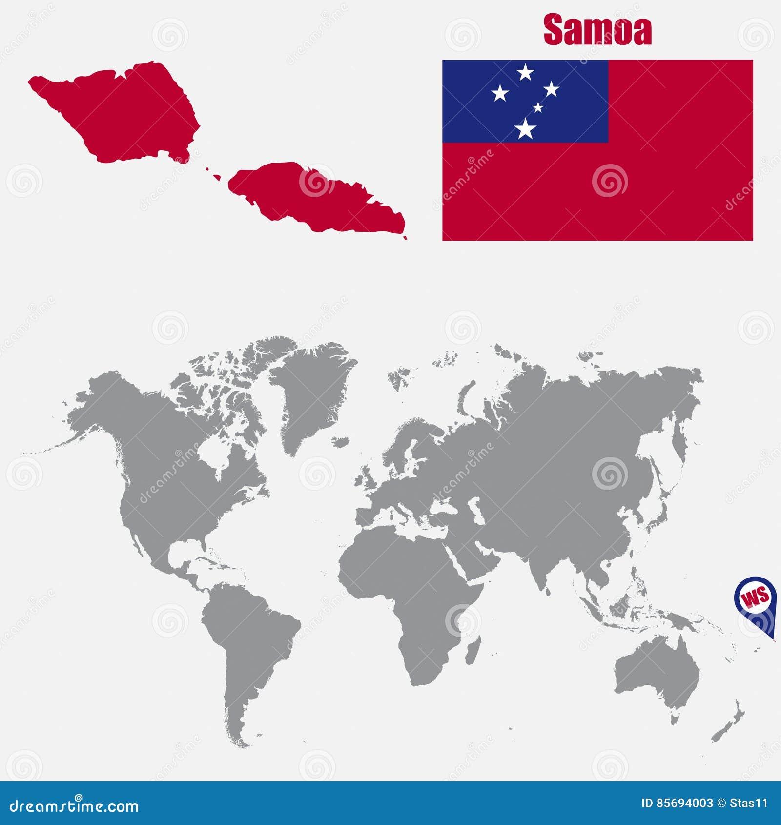Maps Update 780323 Samoa Map World Samoa Map and Information – Samoa on World Map