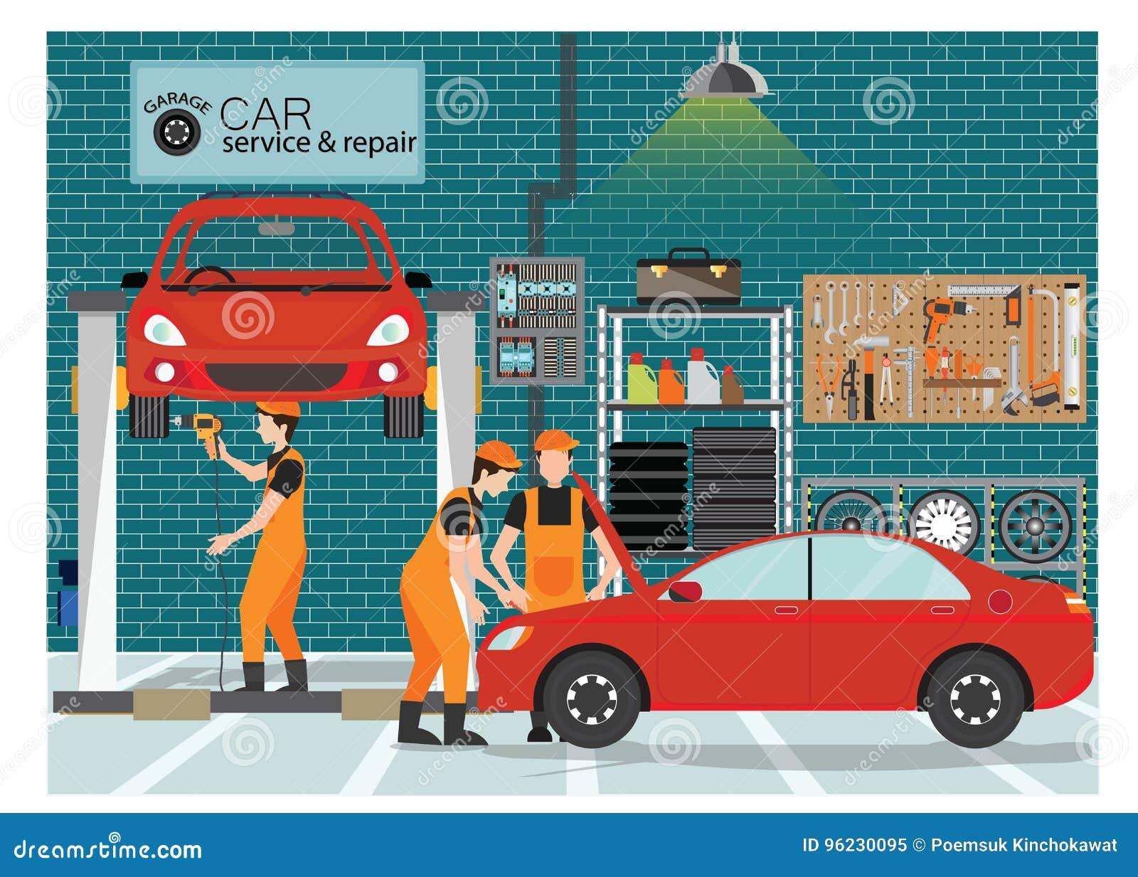 Samochód naprawa i usługa ześrodkowywamy lub garażujemy z pracownikiem