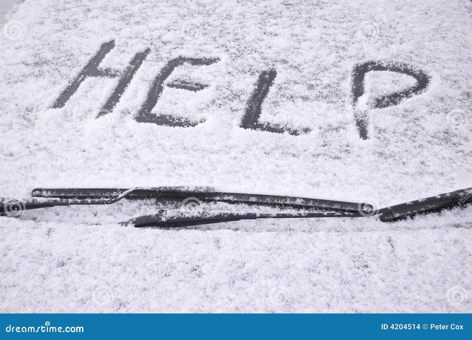 Samochód objętych śnieg szyby przedniej