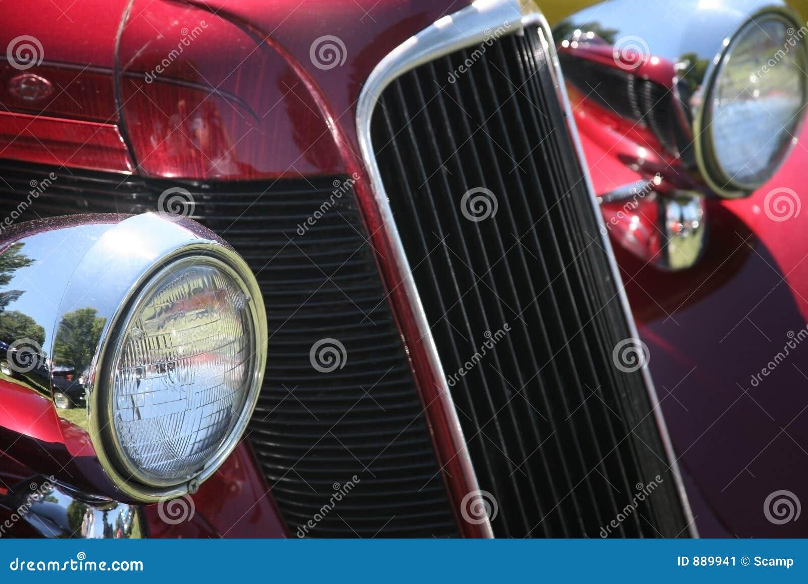 Samochód reflektorów grillów rocznik
