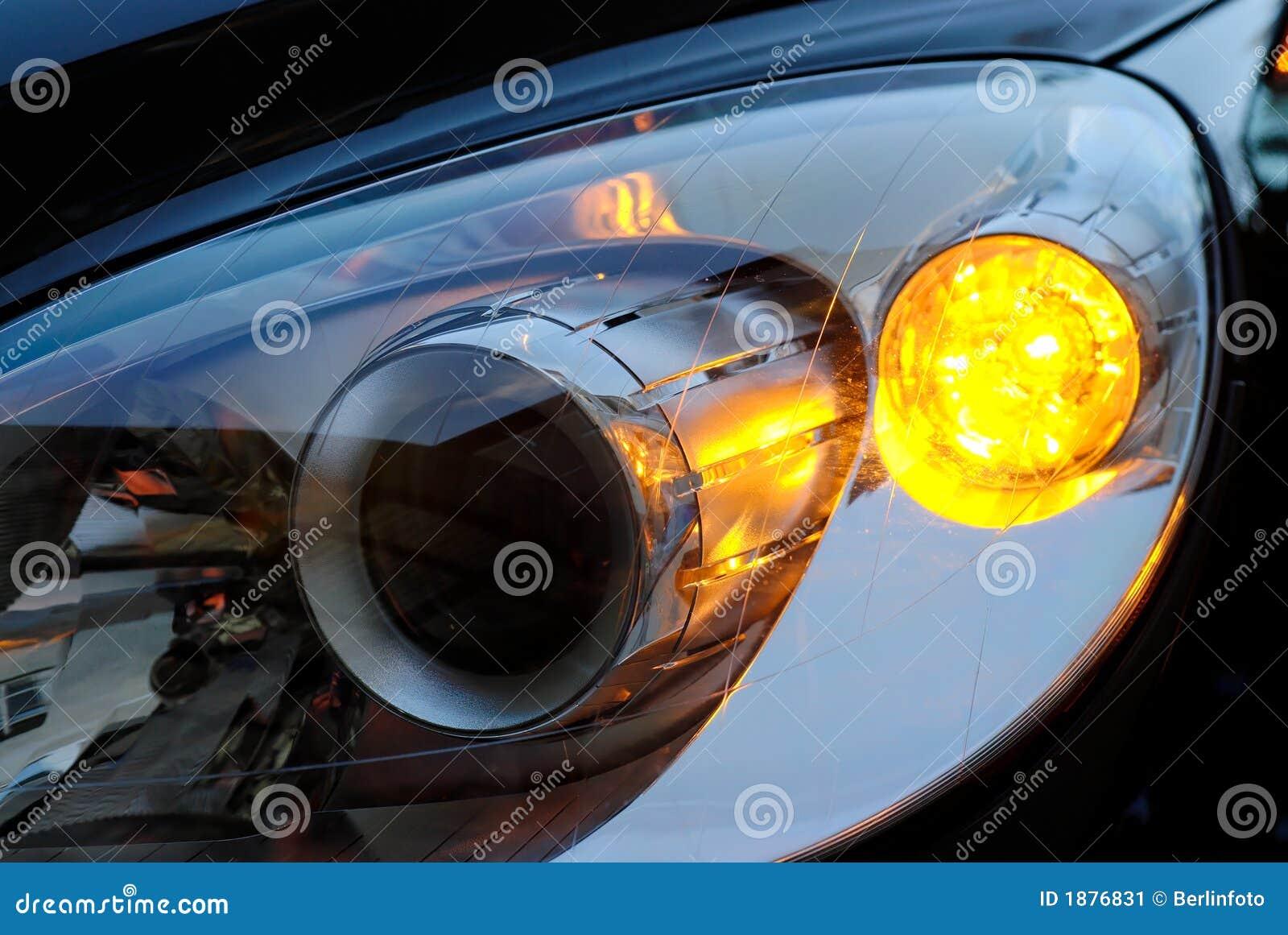 Samochód reflektoru światło