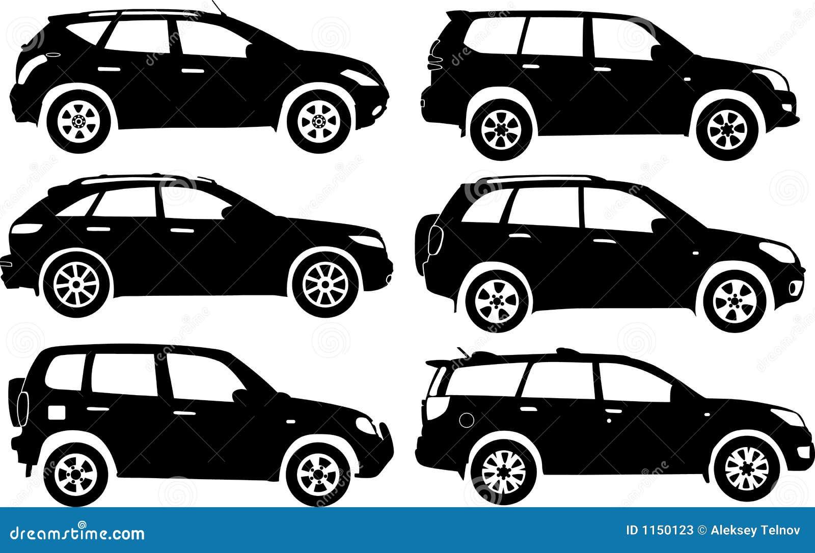 Samochód sylwetki wektora