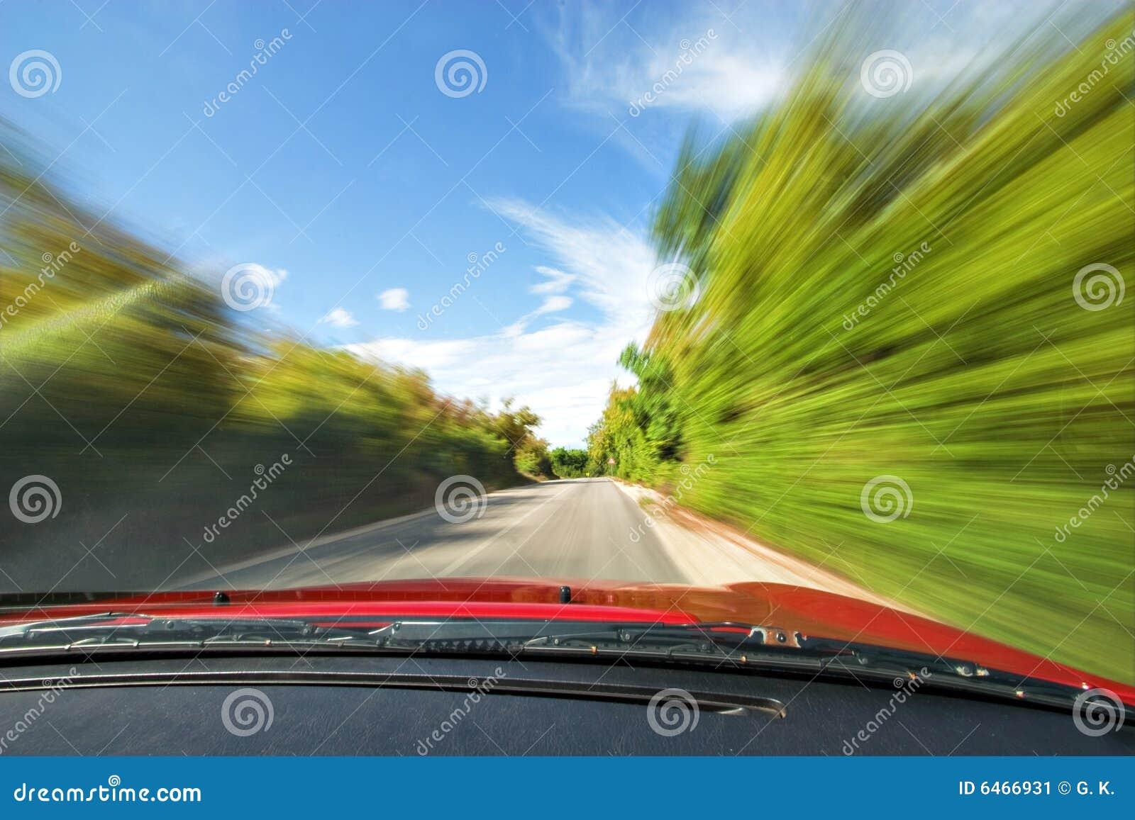 Samochód szybko jazdę autostrady charakteru sportu