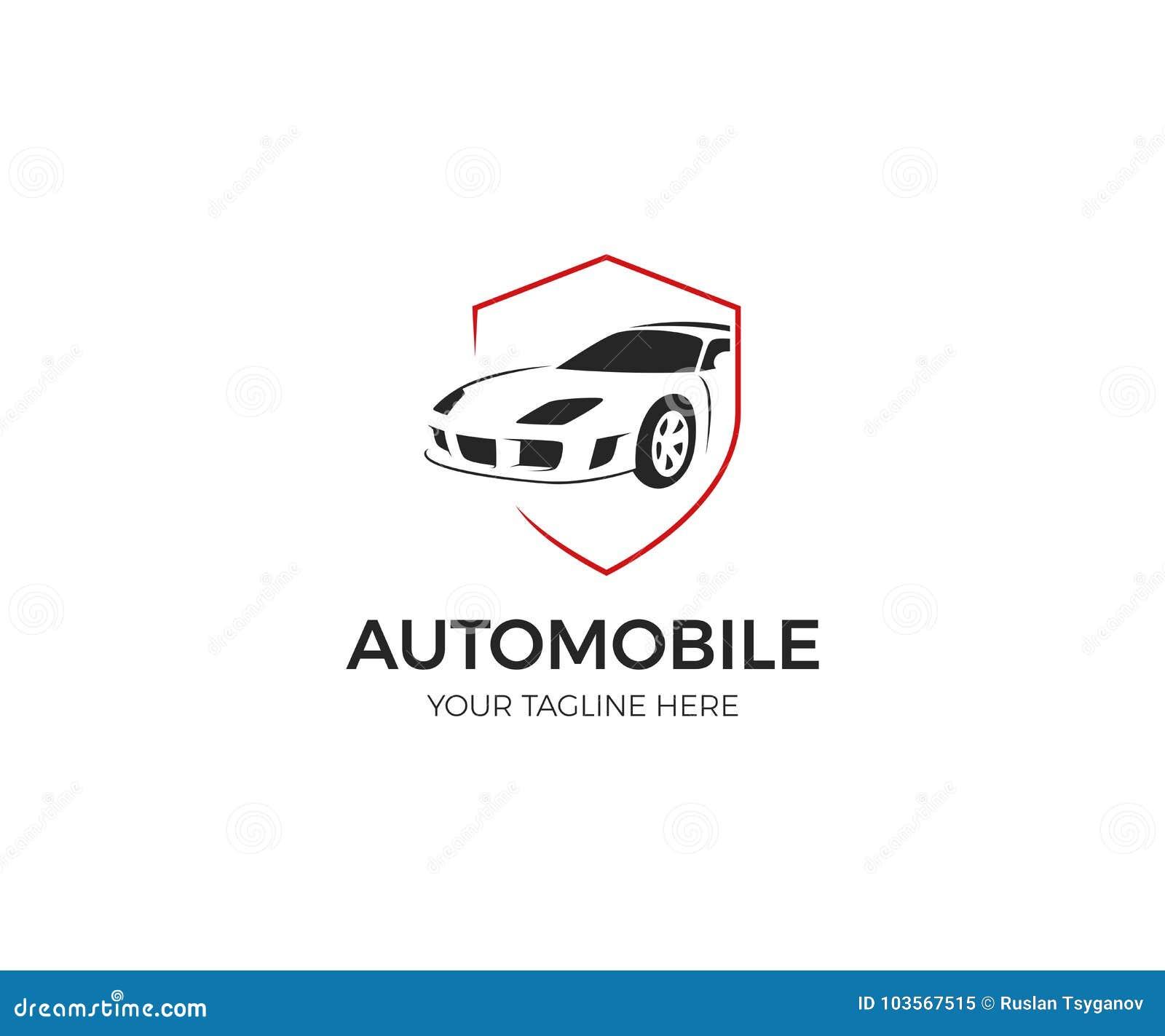 Samochód w osłona logu