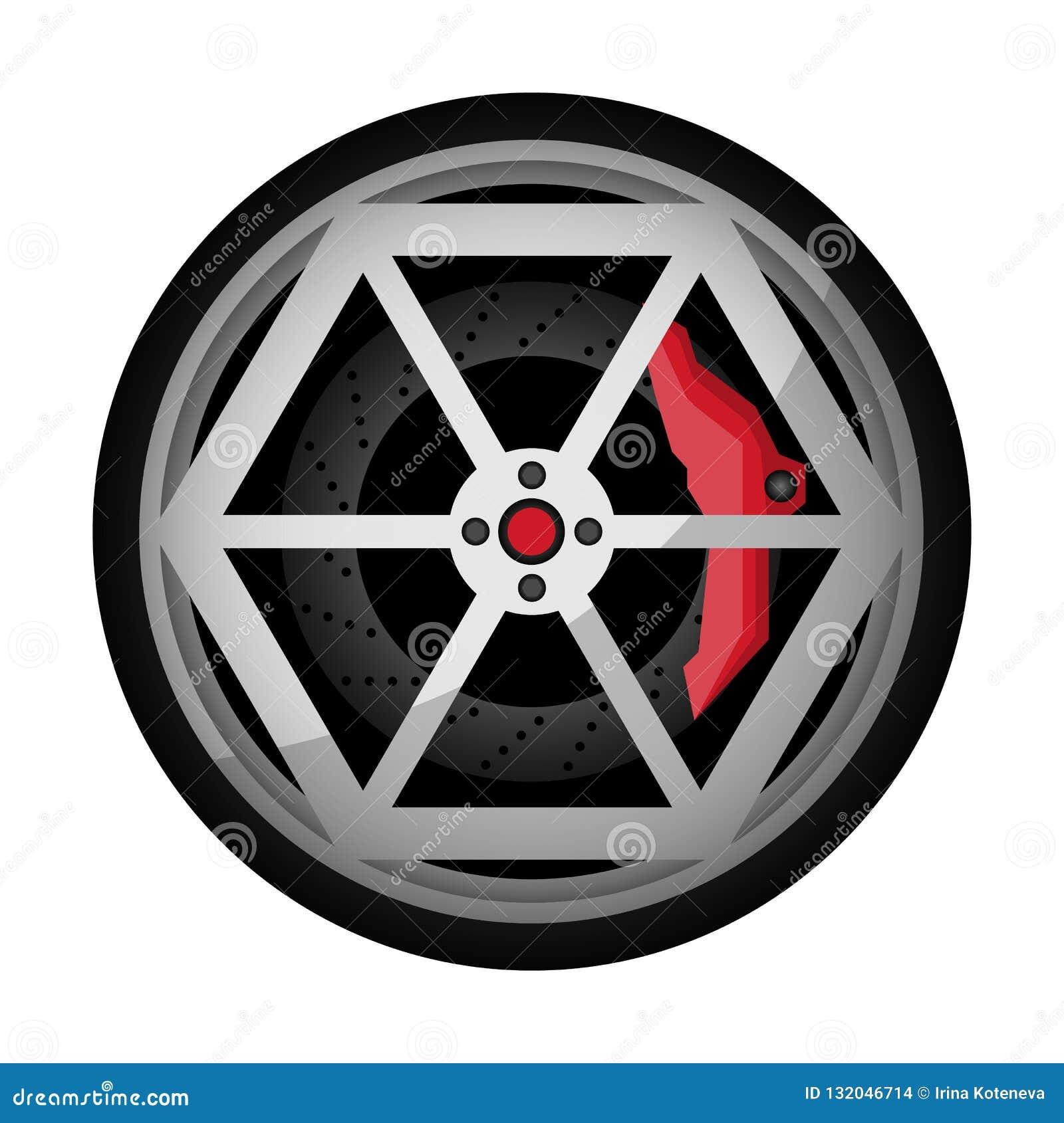 Samochodowa titanium obręcz ikona