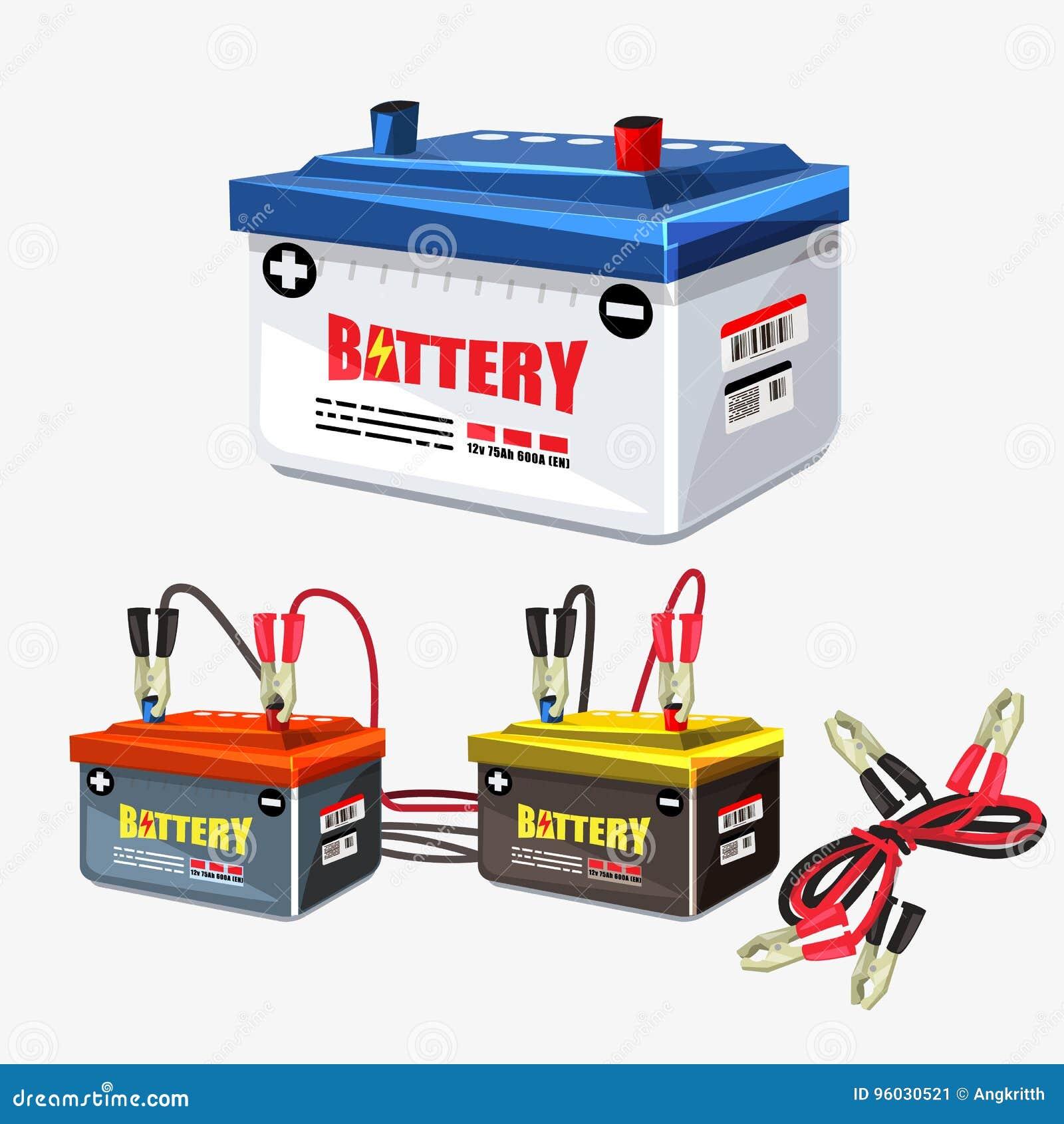 Samochodowej baterii set Bluza kabel - ilustracja
