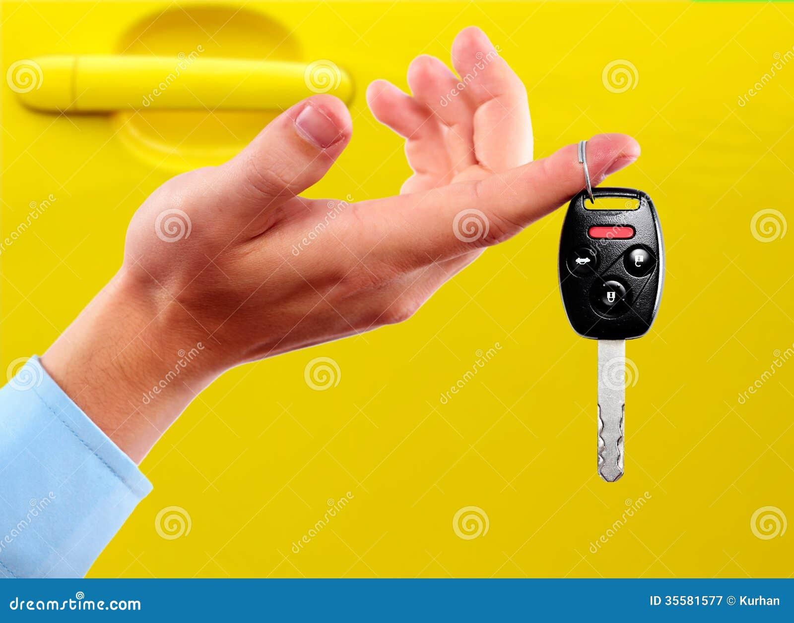 Samochodowi klucze.