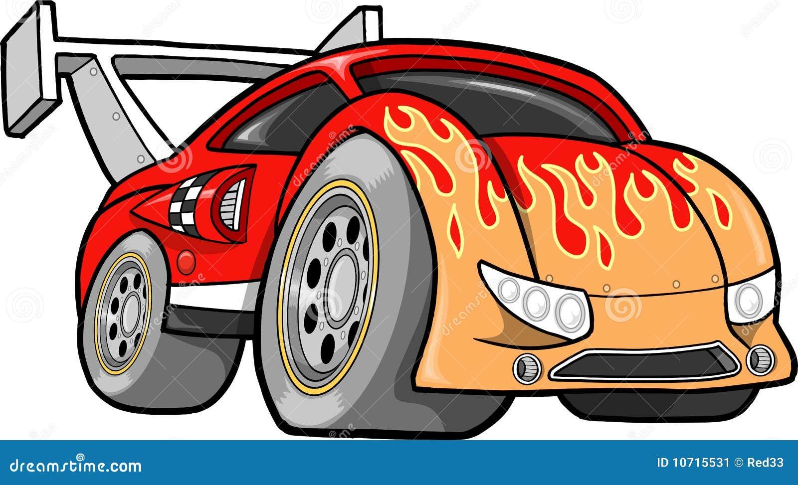 Samochodowy gorący ilustraci rasy prącia wektor