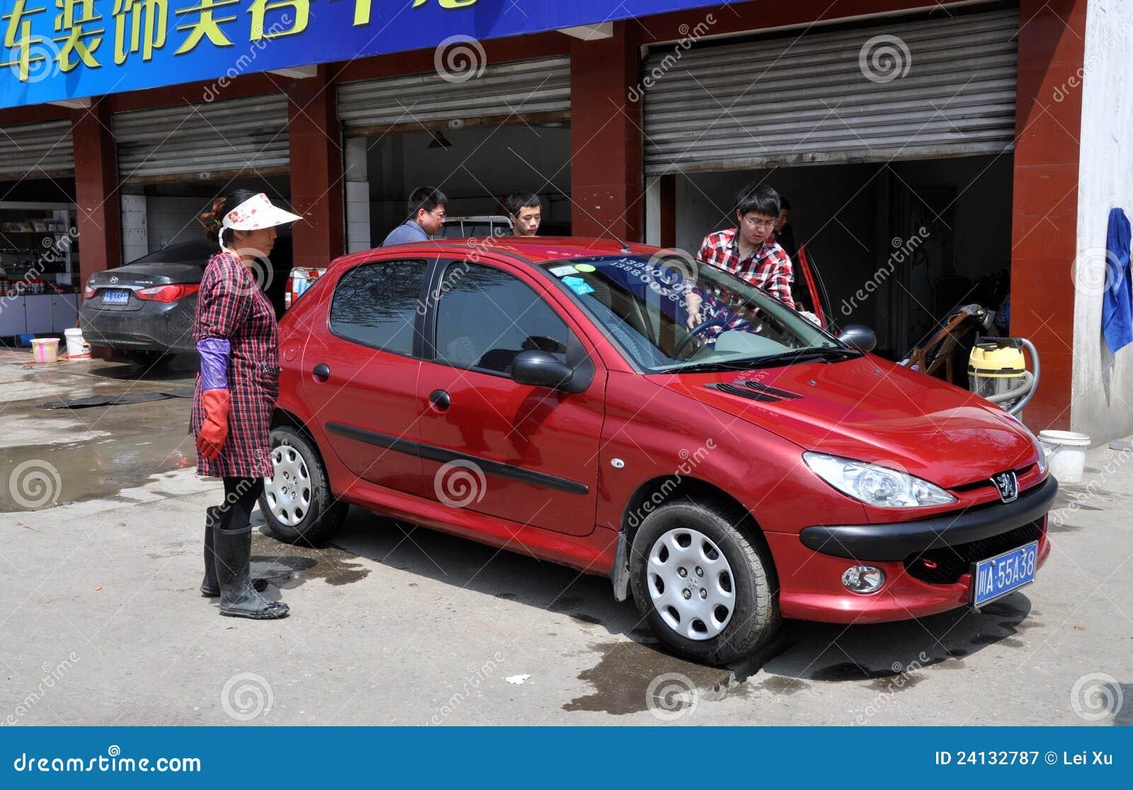 Samochodowy porcelanowy pengzhou sklepu obmycie