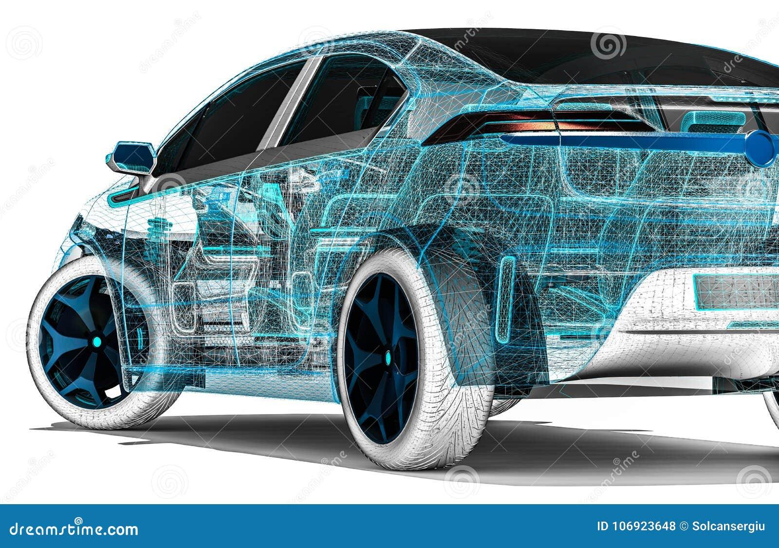 Samochodowy rozwój na komputerów softwares