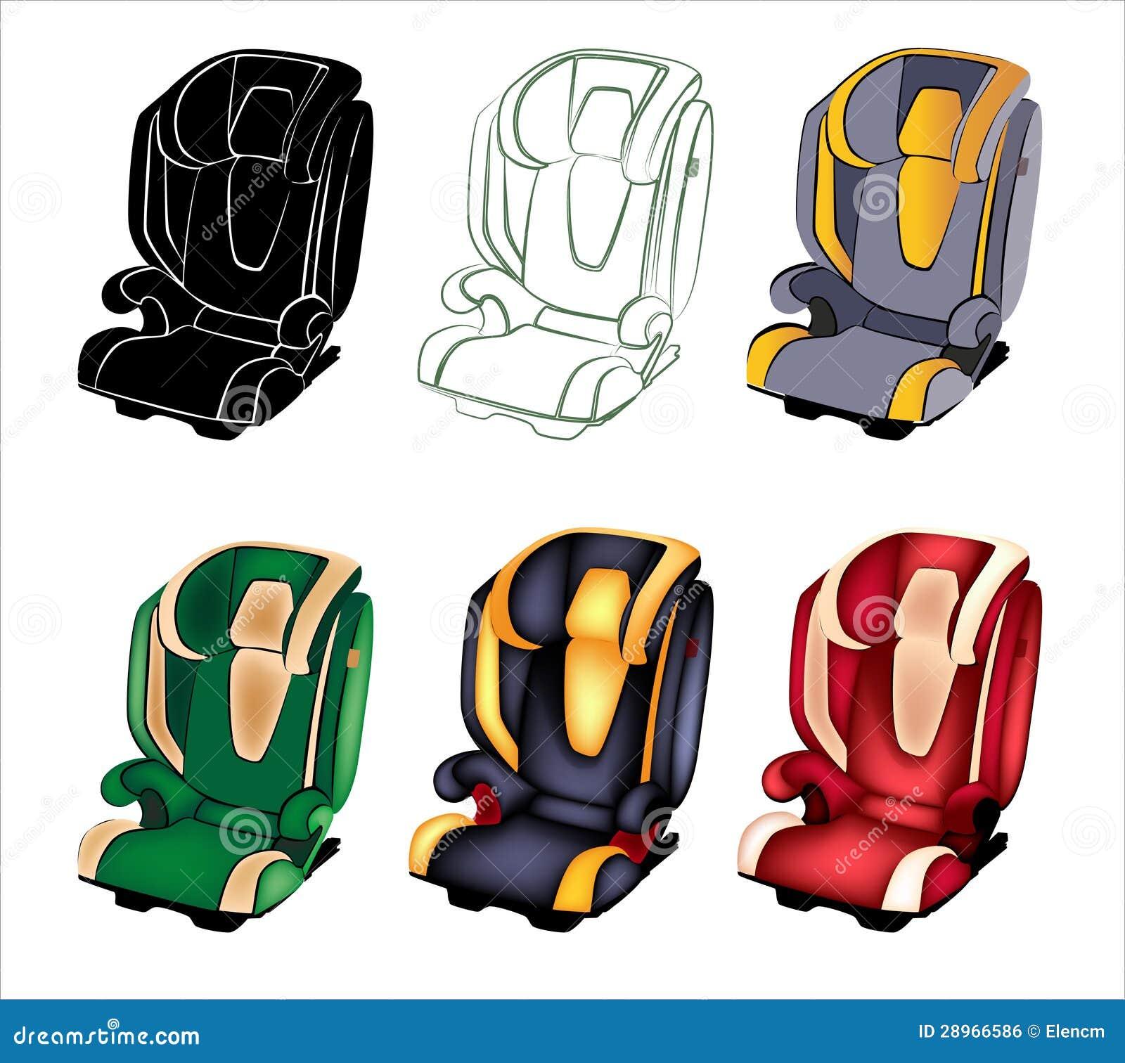 Samochodowy siedzenie.