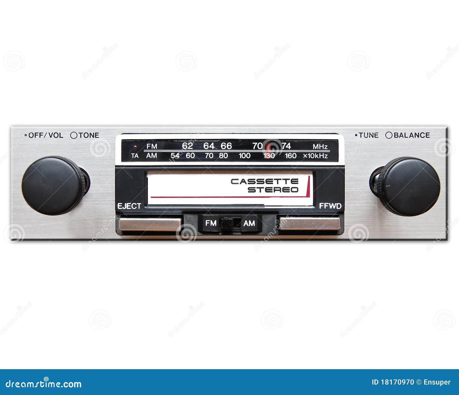 Samochodowy stereo rocznik