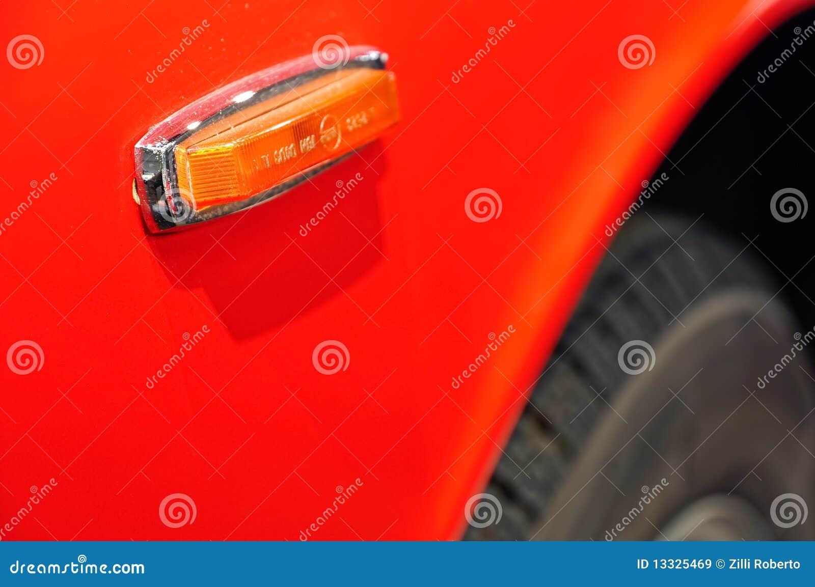 Samochodowy szczegółu przedstawienie rocznik