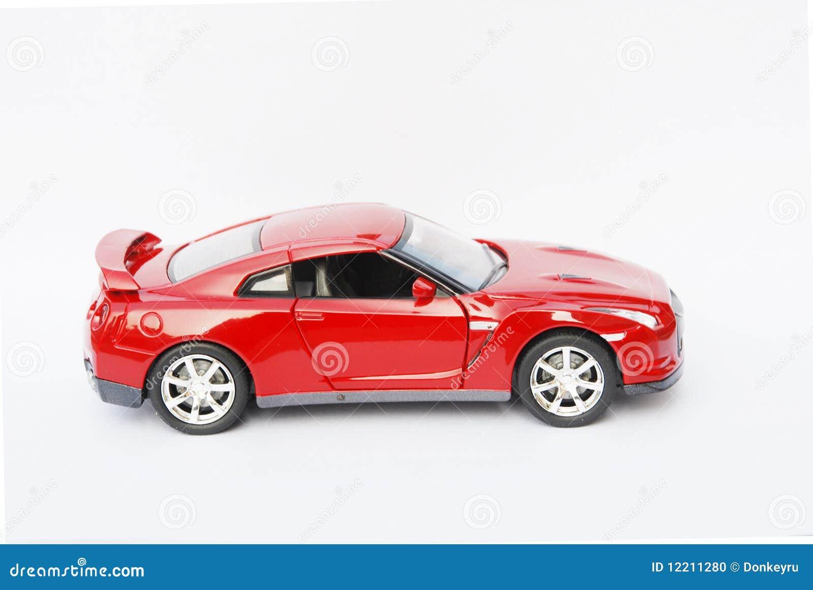 Samochodowy twarzy modela czerwieni strony sport