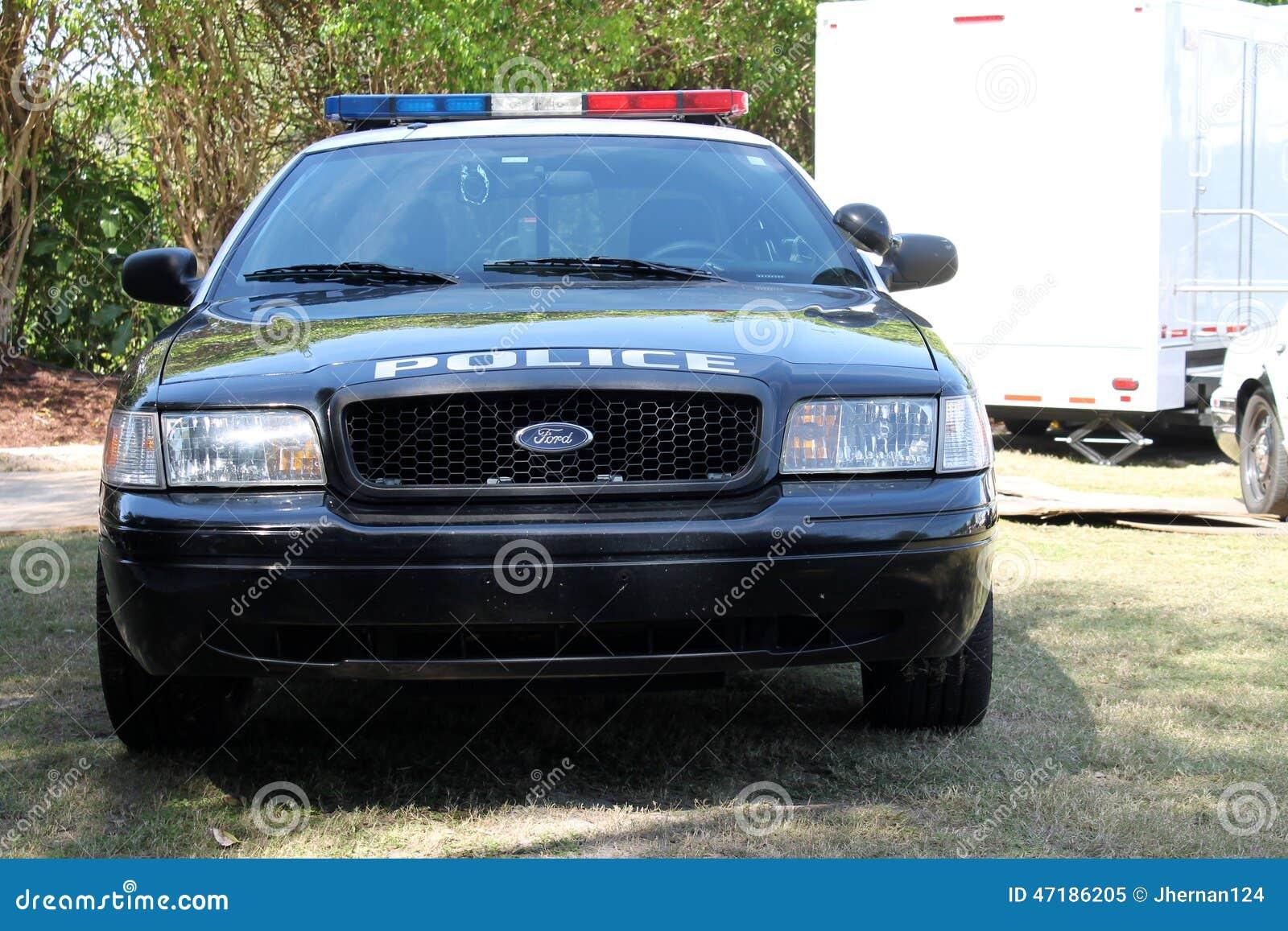 Samochodu policyjnego przód