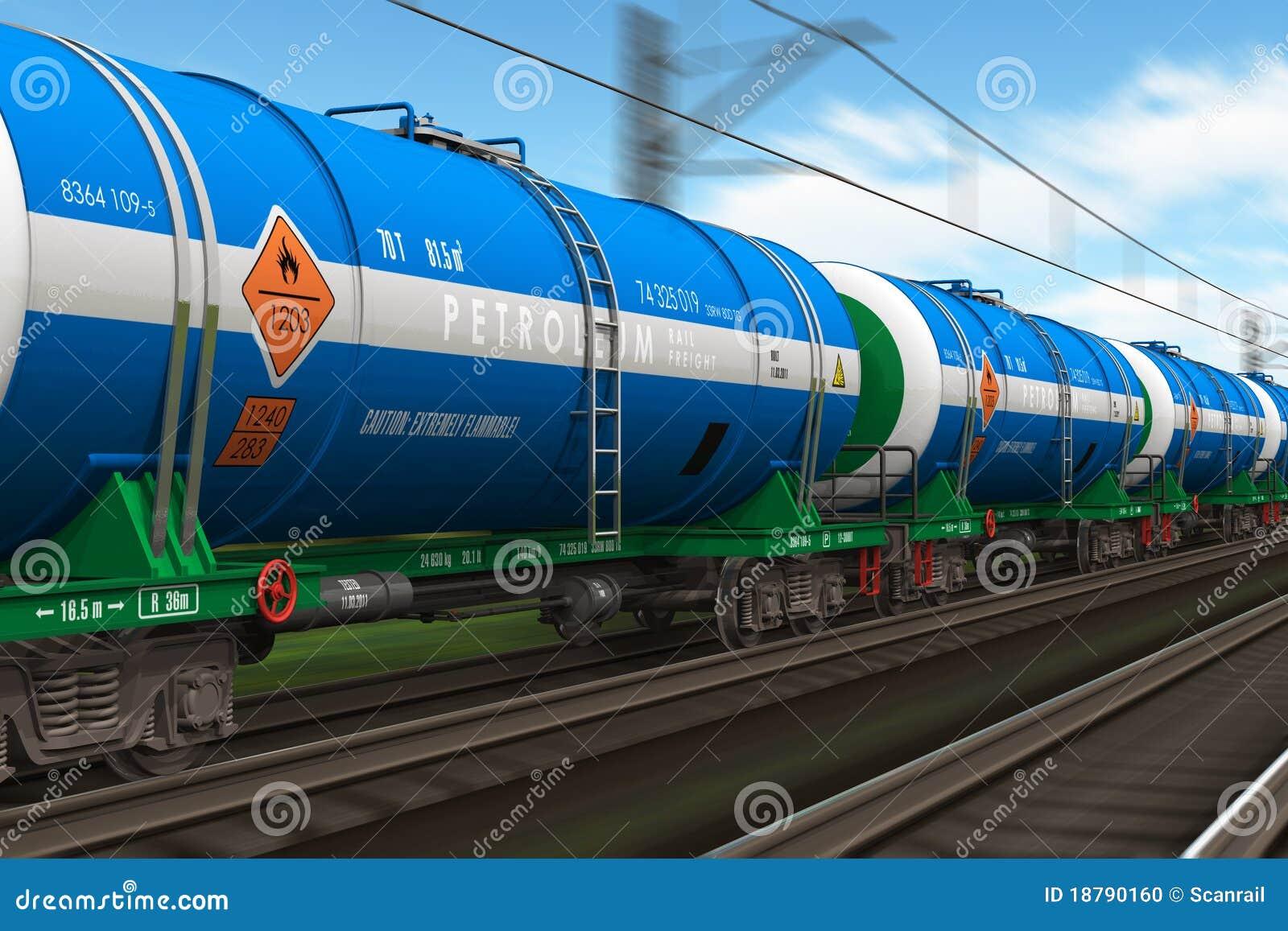 Samochody freight tankowa ponaftowego pociąg