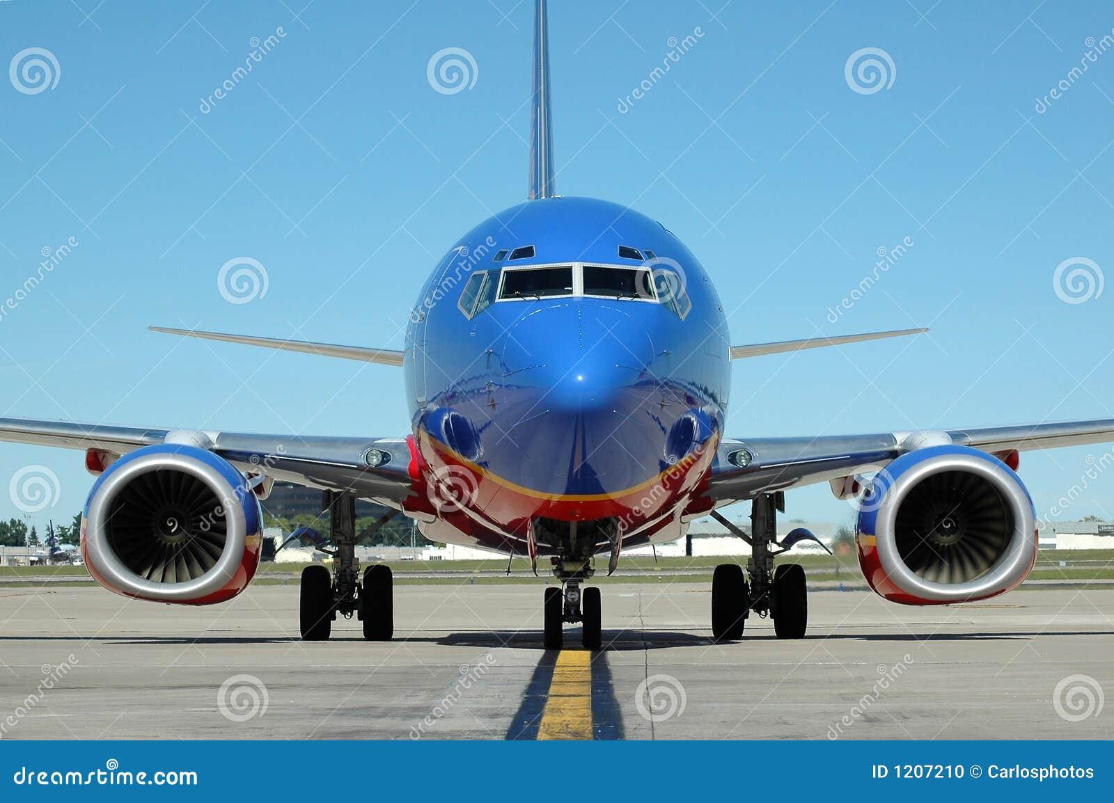 Samolot na lotnisko