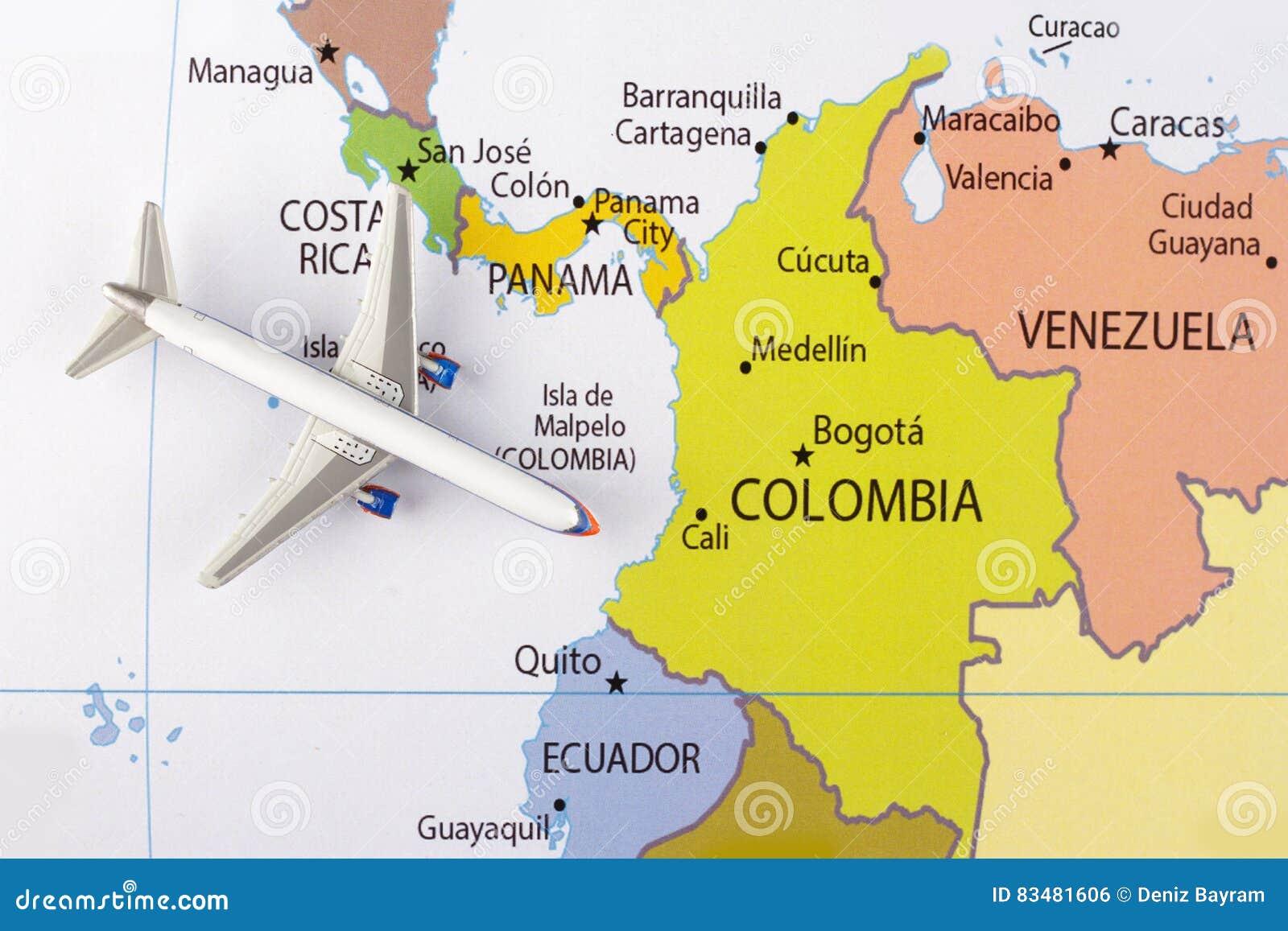 Samolot na mapie