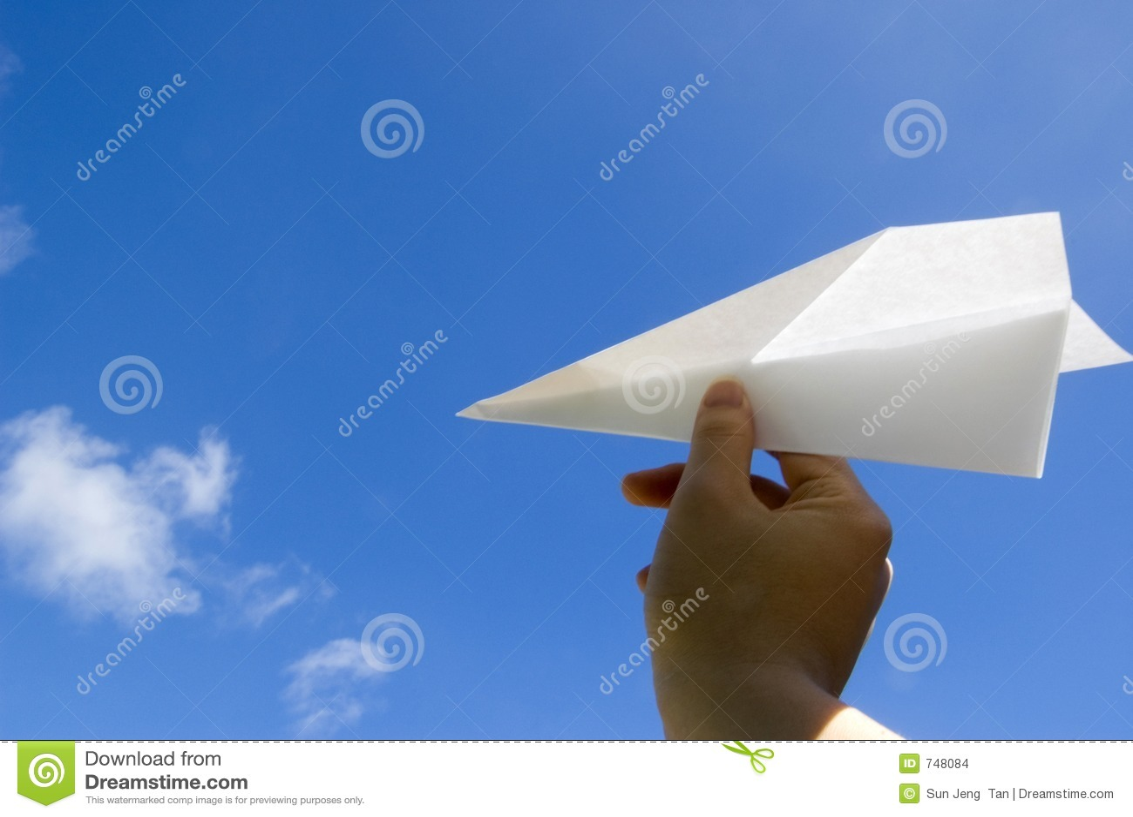 Samolot rozpoczyna papieru