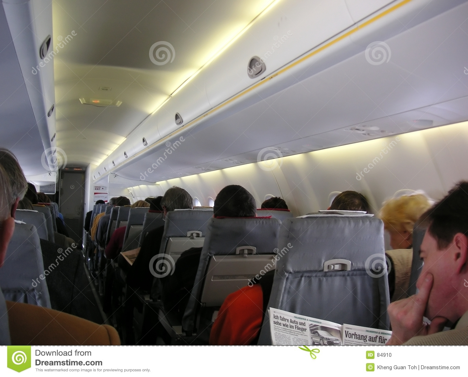 Samolot w pokoju nr pasażerów
