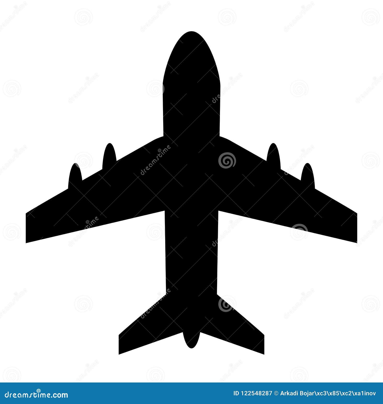 Samolotowa wektorowa ikona