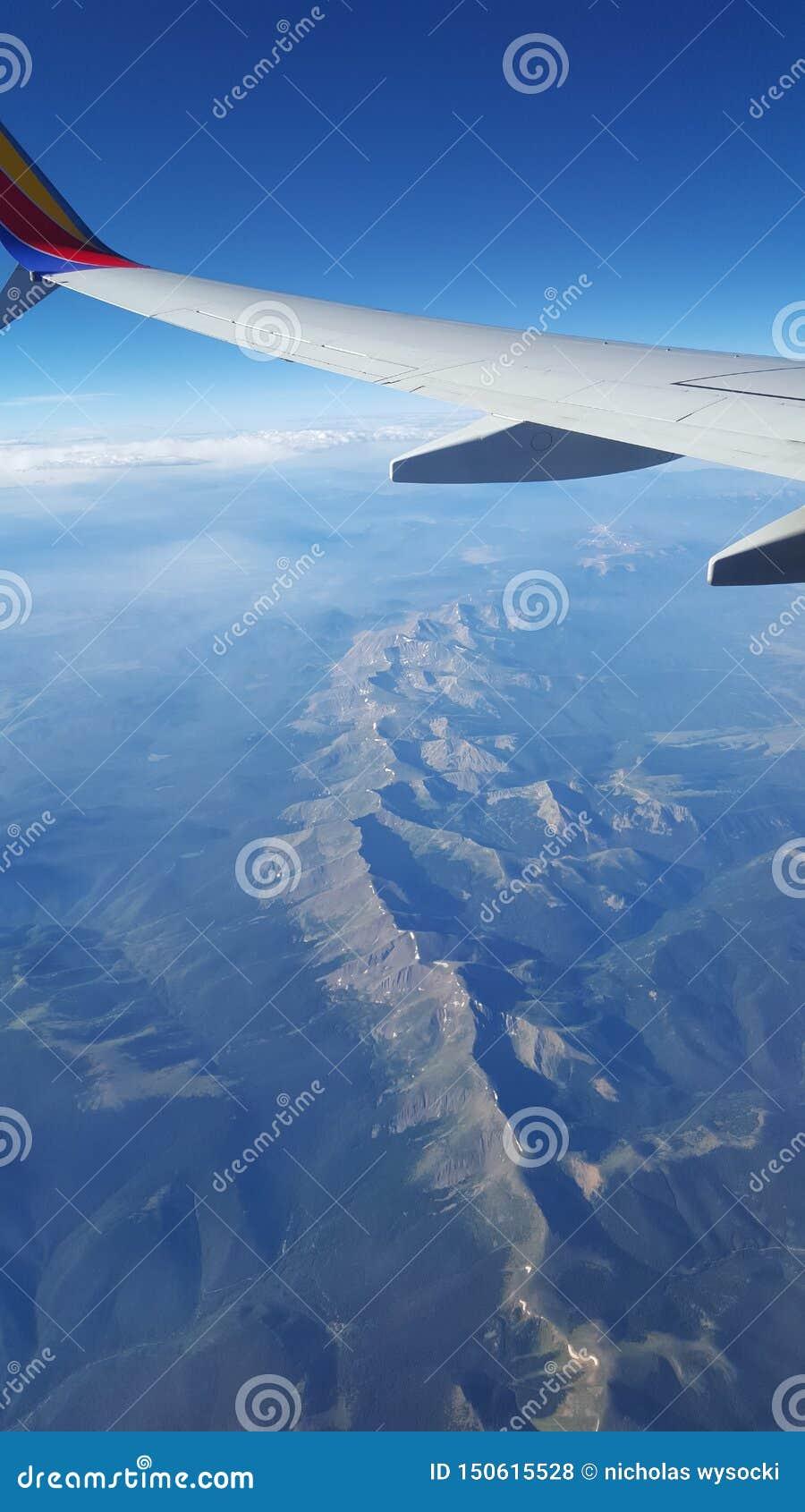 Samolotowe widok góry