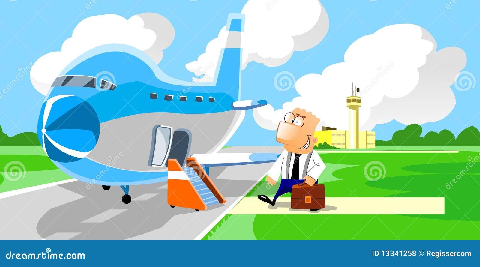 Samolotowy wchodzić do biznesmena