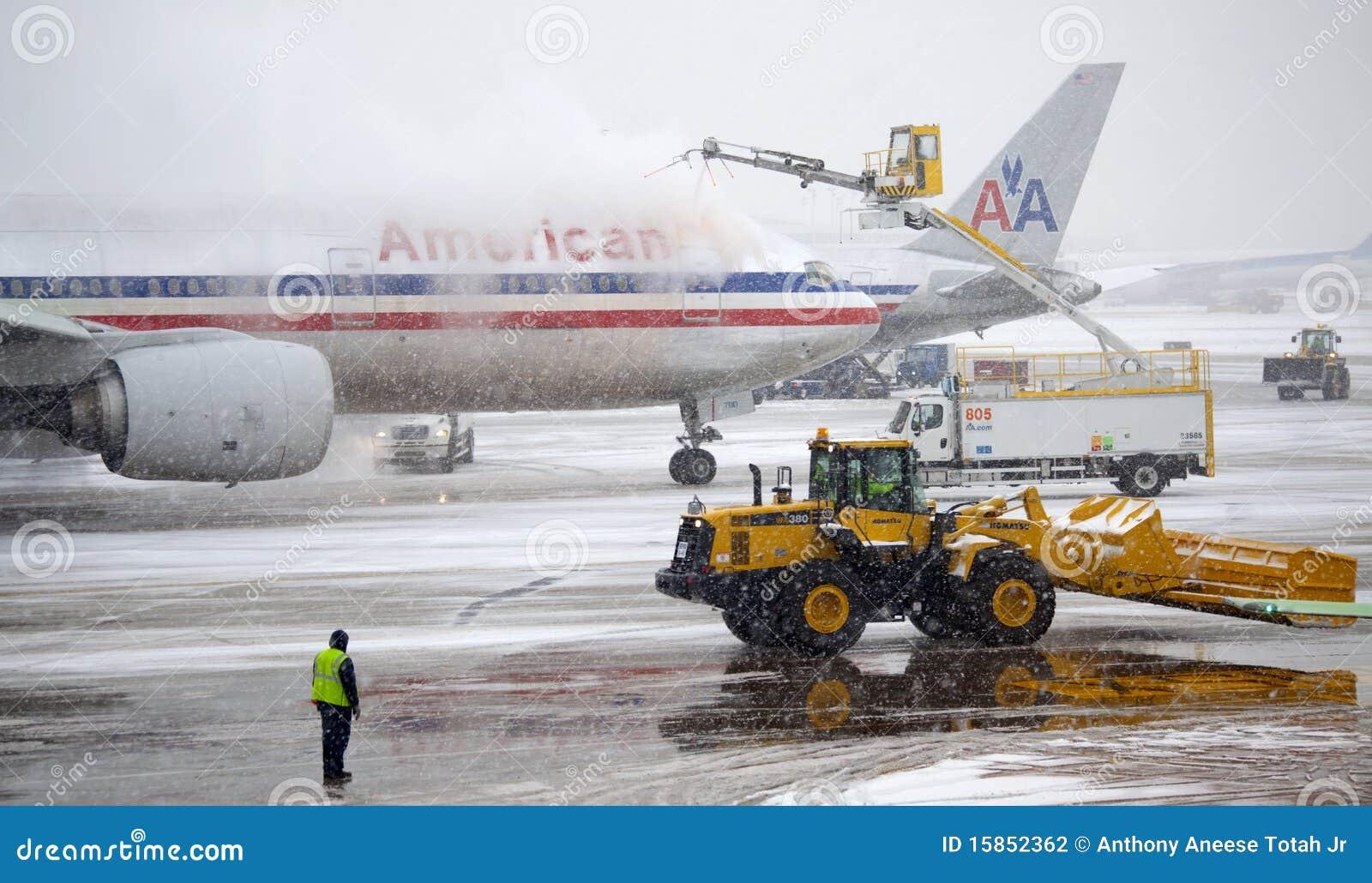 Samolotu De Lodowacenie śniegu burza