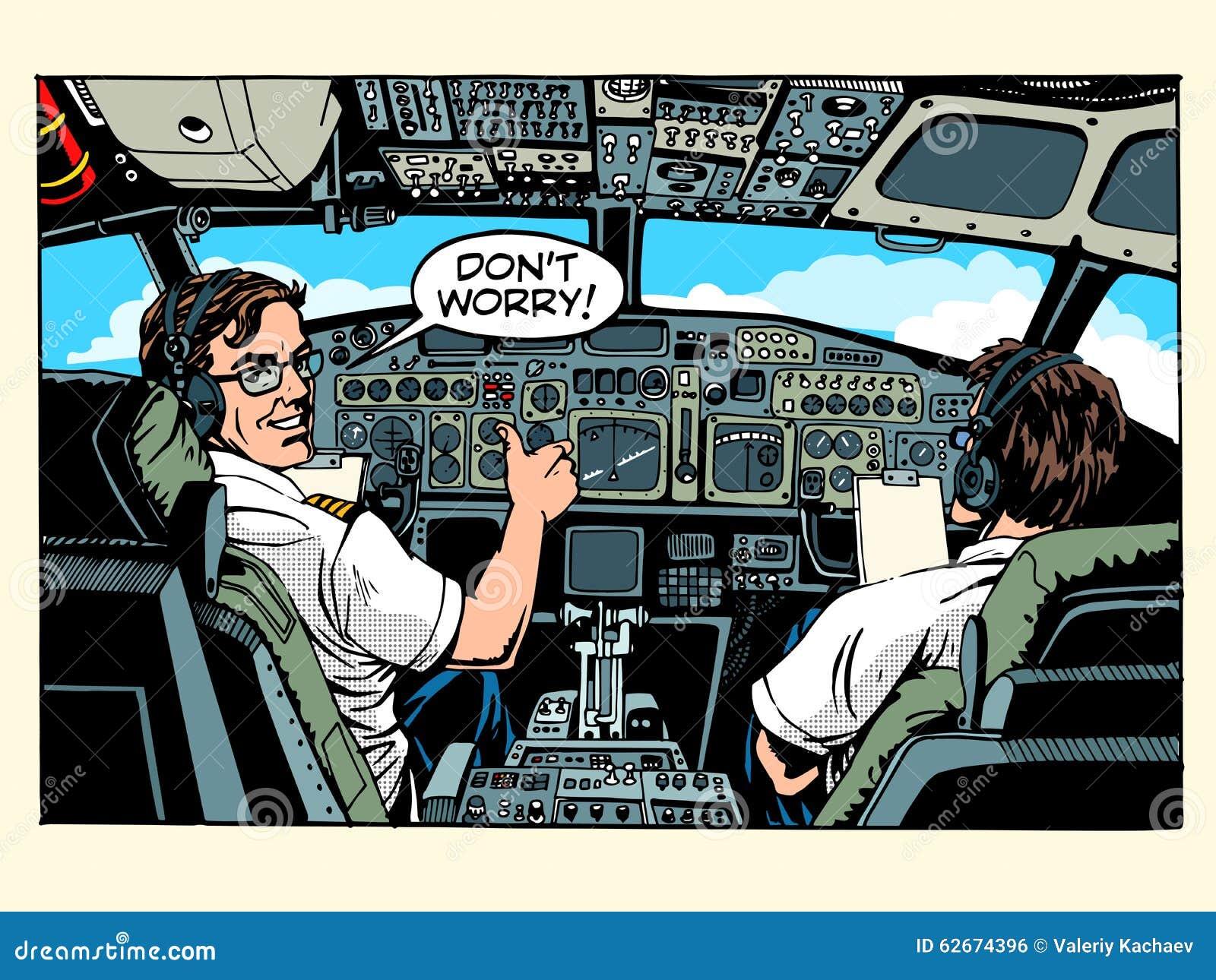 Samolotu kokpit pilotuje samolotowego kapitanu