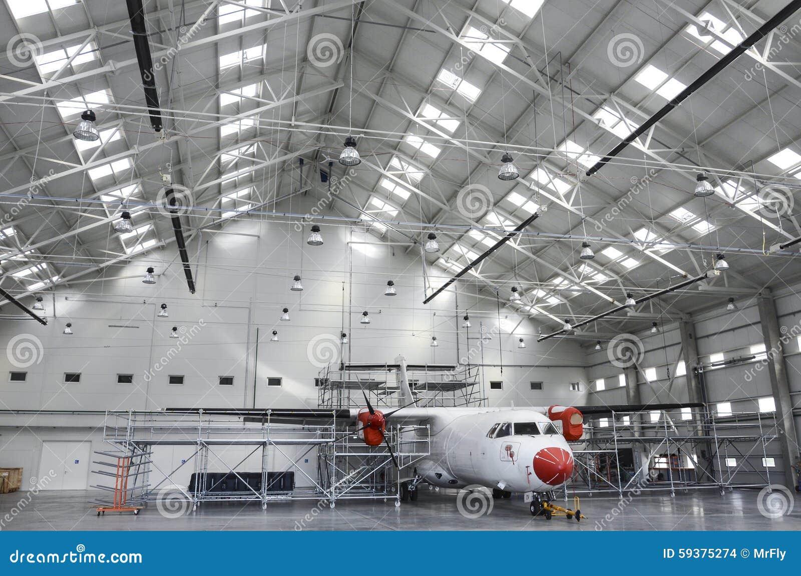 Samolotu utrzymania hangar