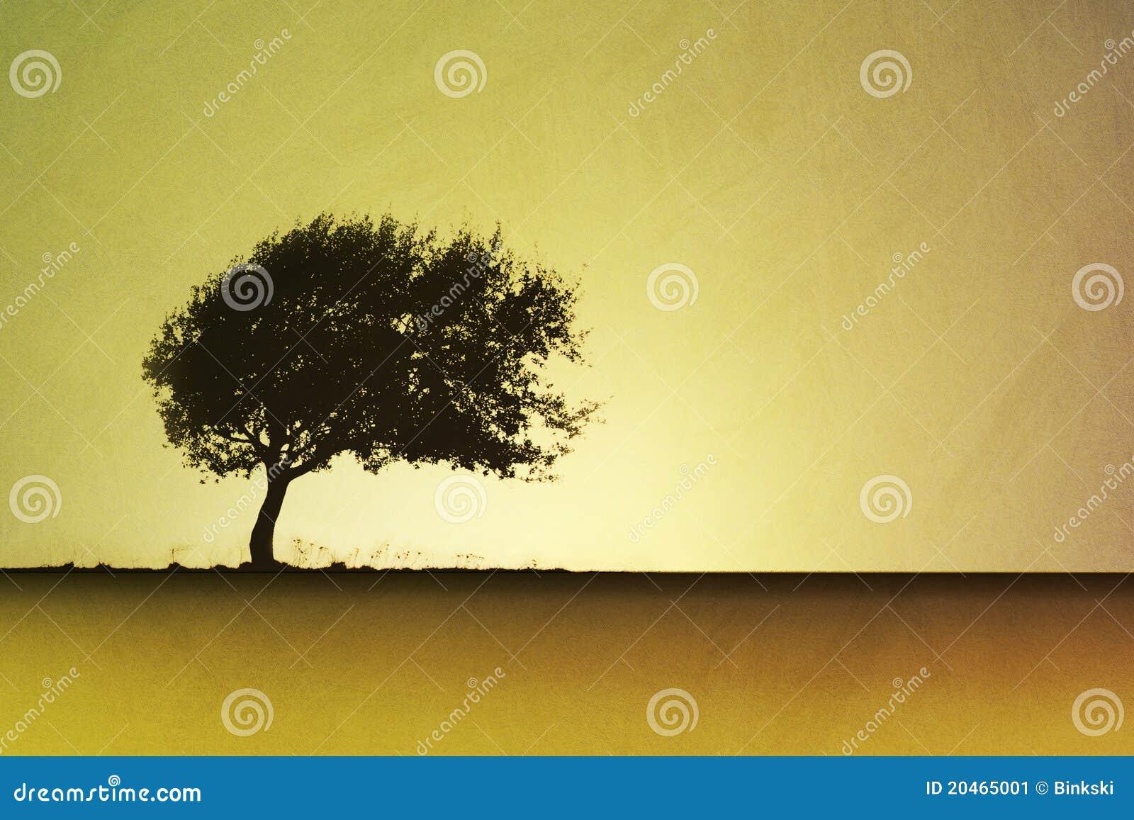 Samotny drzewo