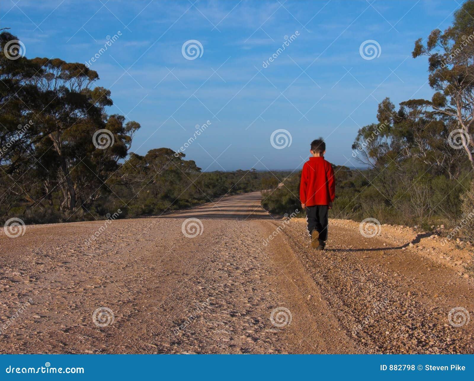 Samotny spacer