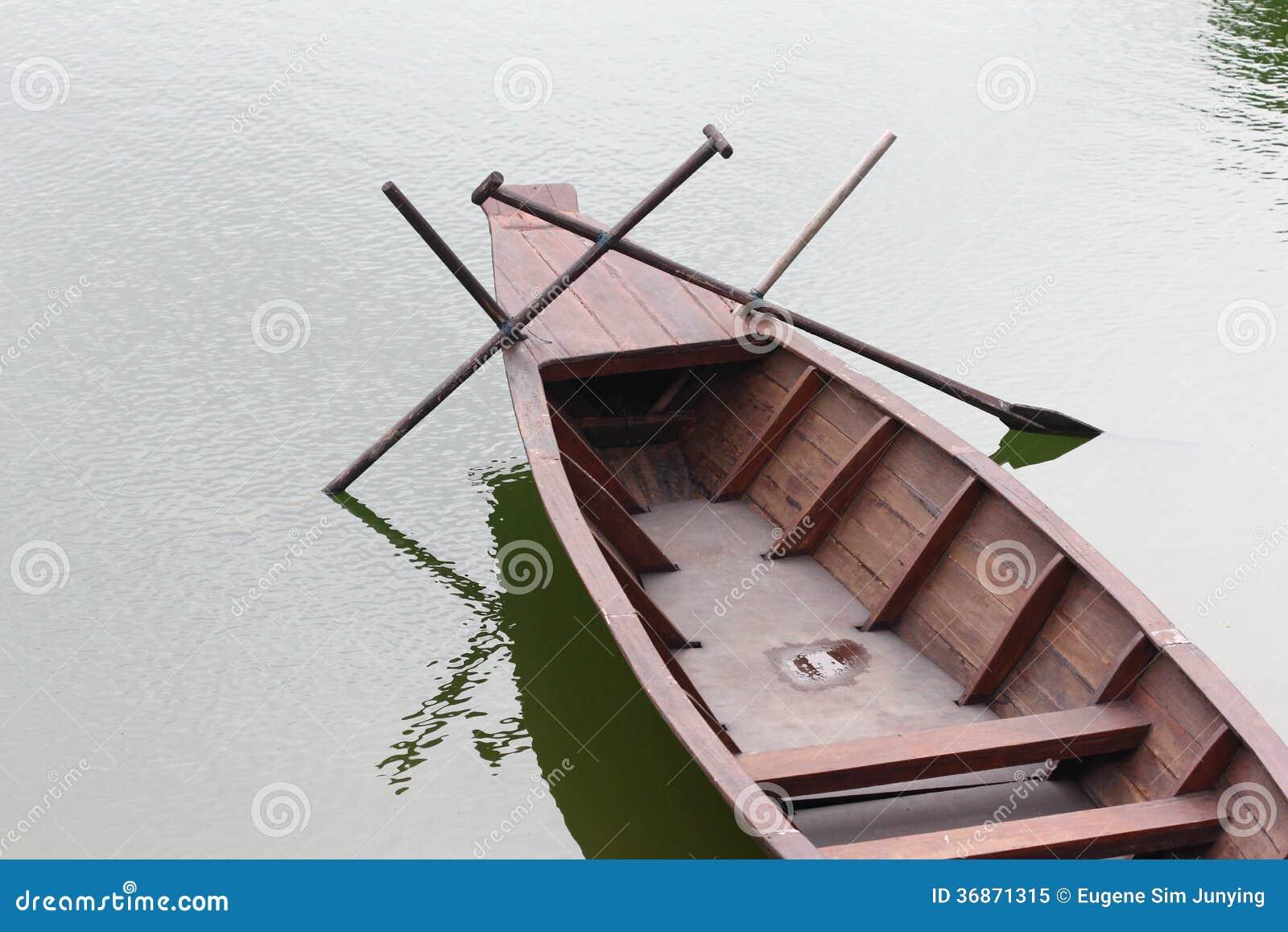Sampan łódź od wierzchołka
