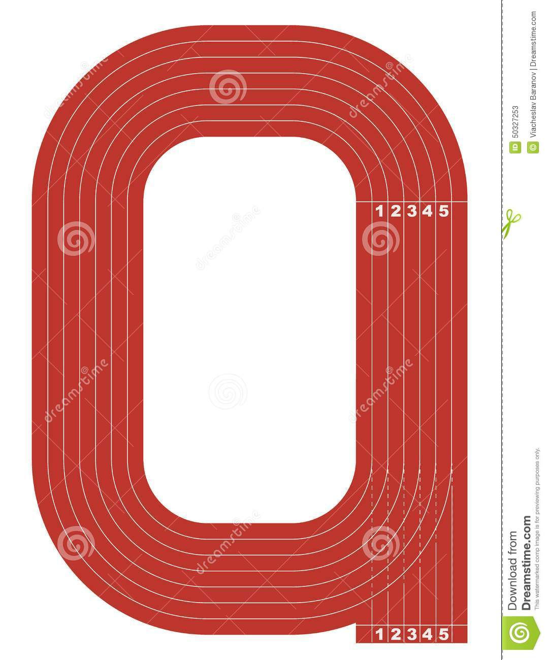 Sample Athletics Track Field In A Simple Outline Stock