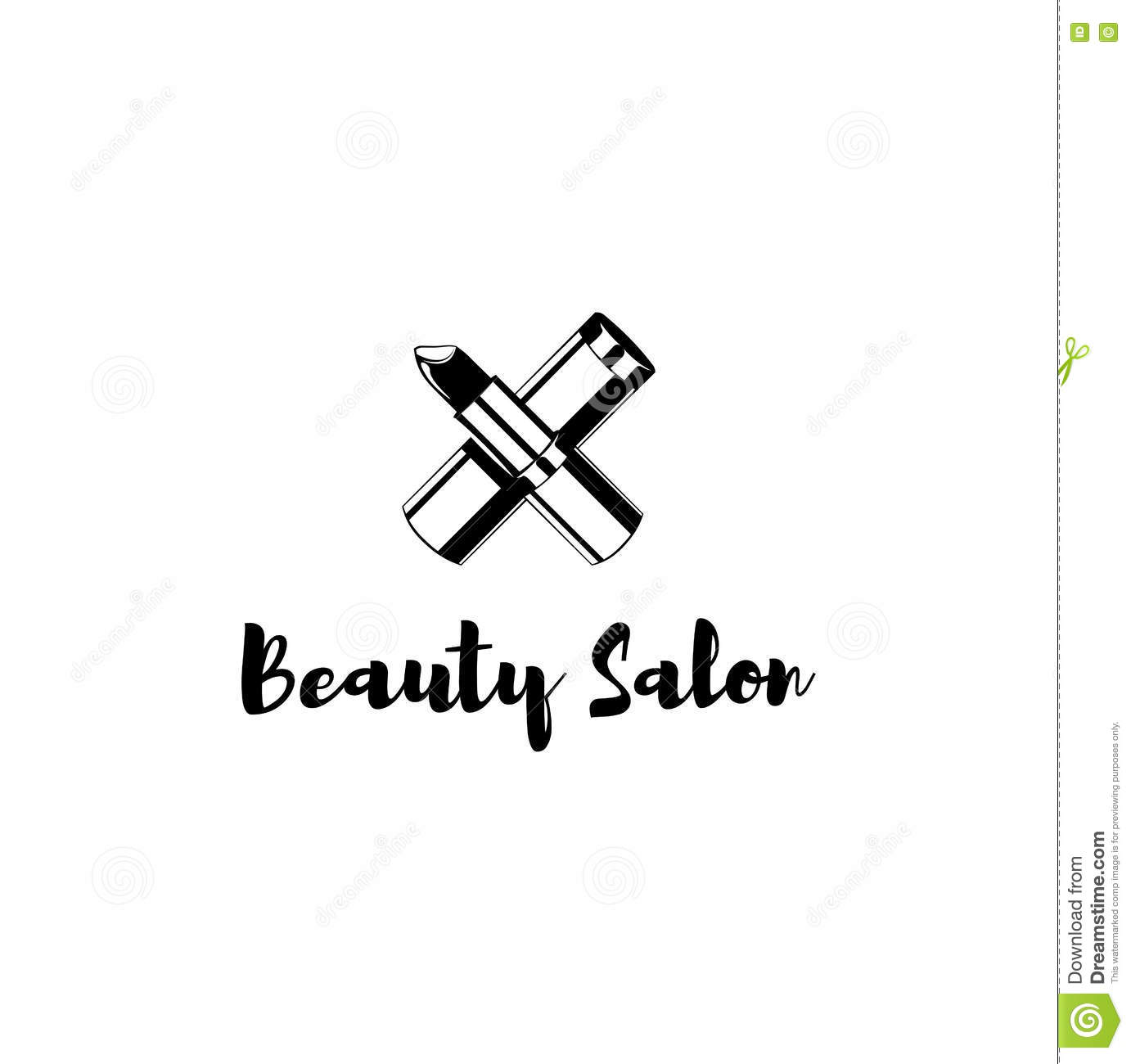 sample badge for a beauty salon beauty and cosmetics product