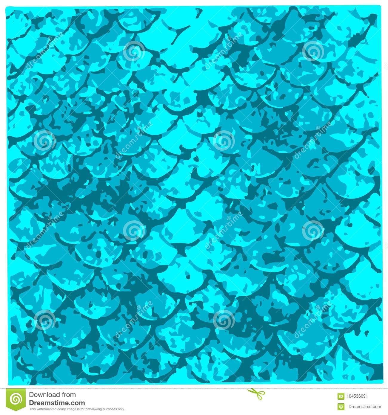 A sample of fish scales pattern,can be used for textile design, swimwear, wallpaper, poster. Mermaid tail.