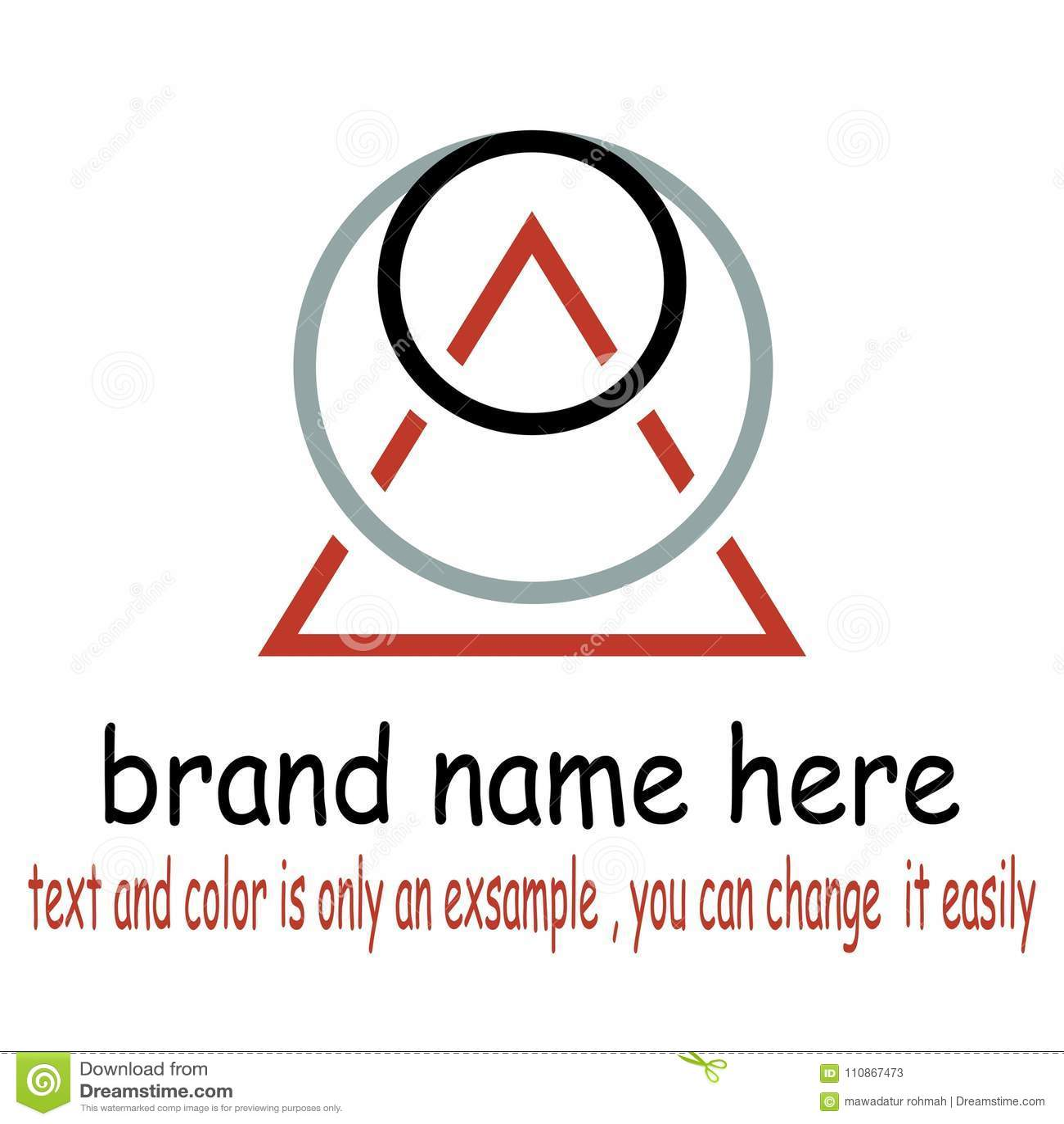 Round triangel logo vector