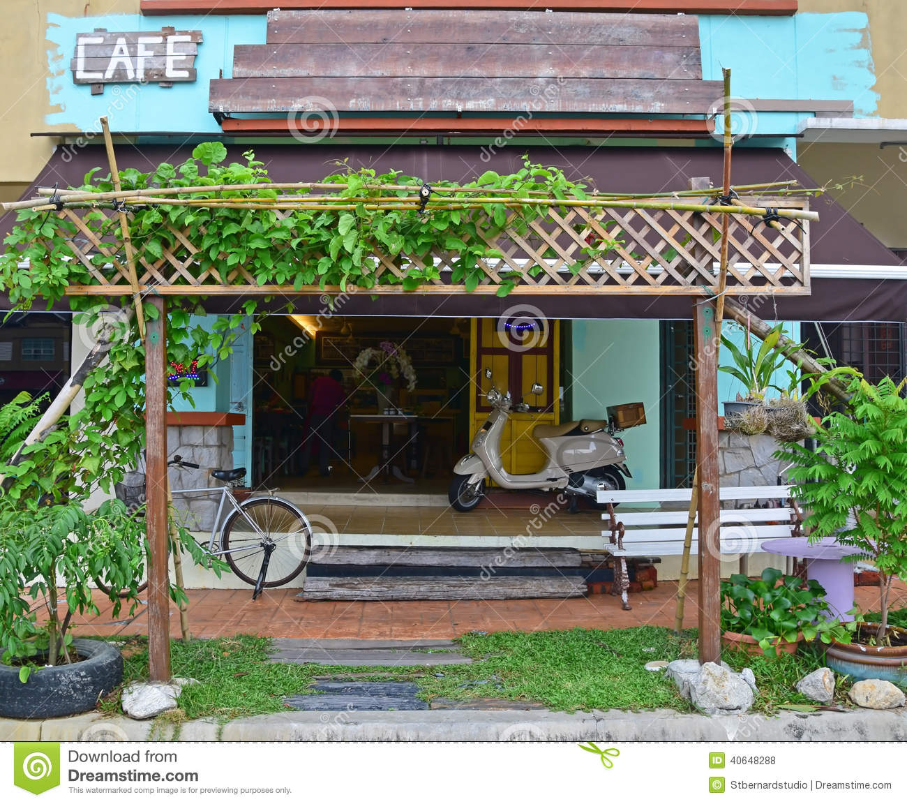 a sample model of front cafe shop editorial stock photo image of growth drink 40648288