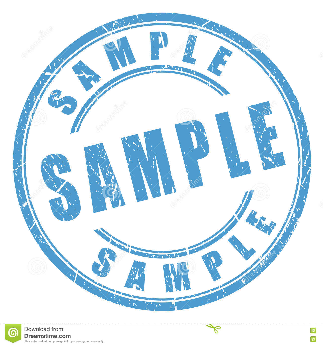 Free sample, try it now. Rubber stamp, grunge, isolated on white.