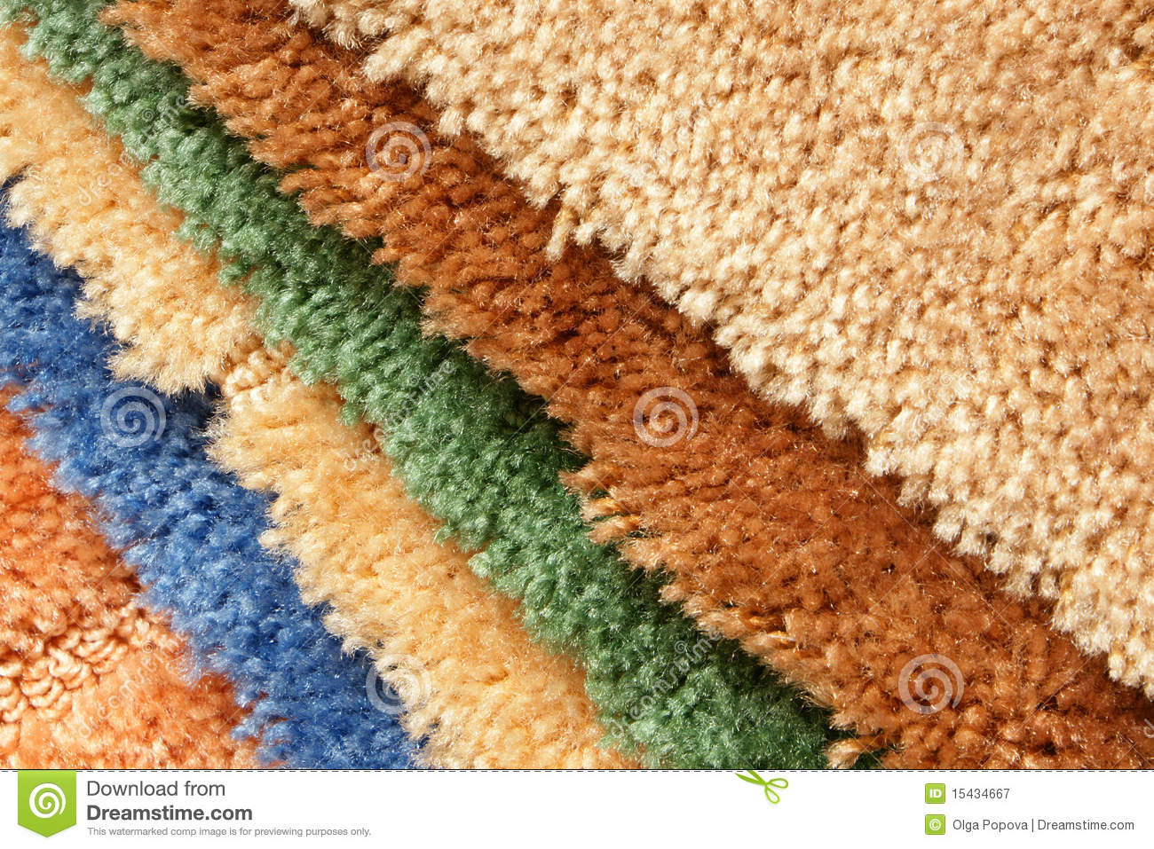 Samples Of Collection Carpet Stock Image - Image of blue