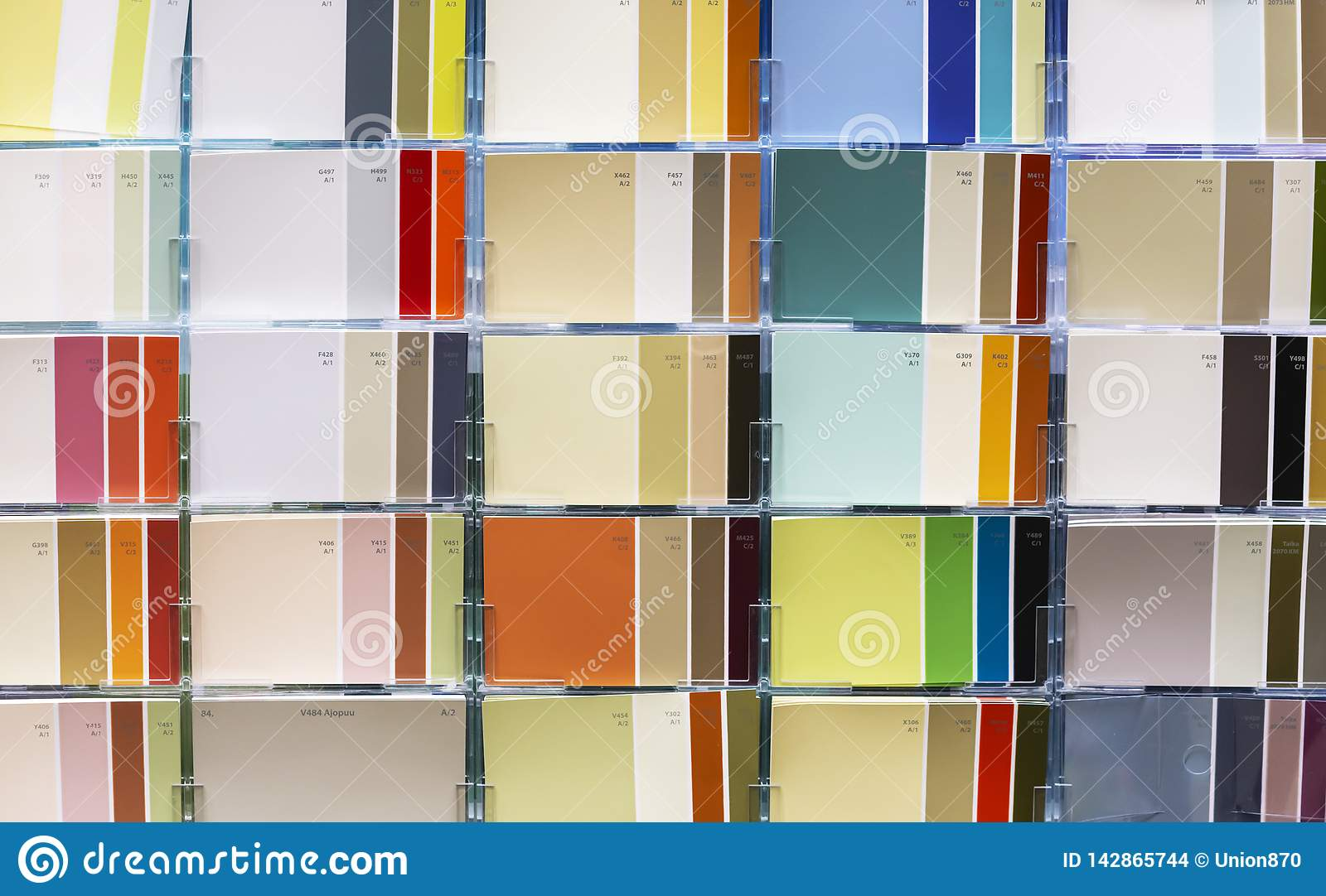 Samples of color combinations. The palette of harmonious colors