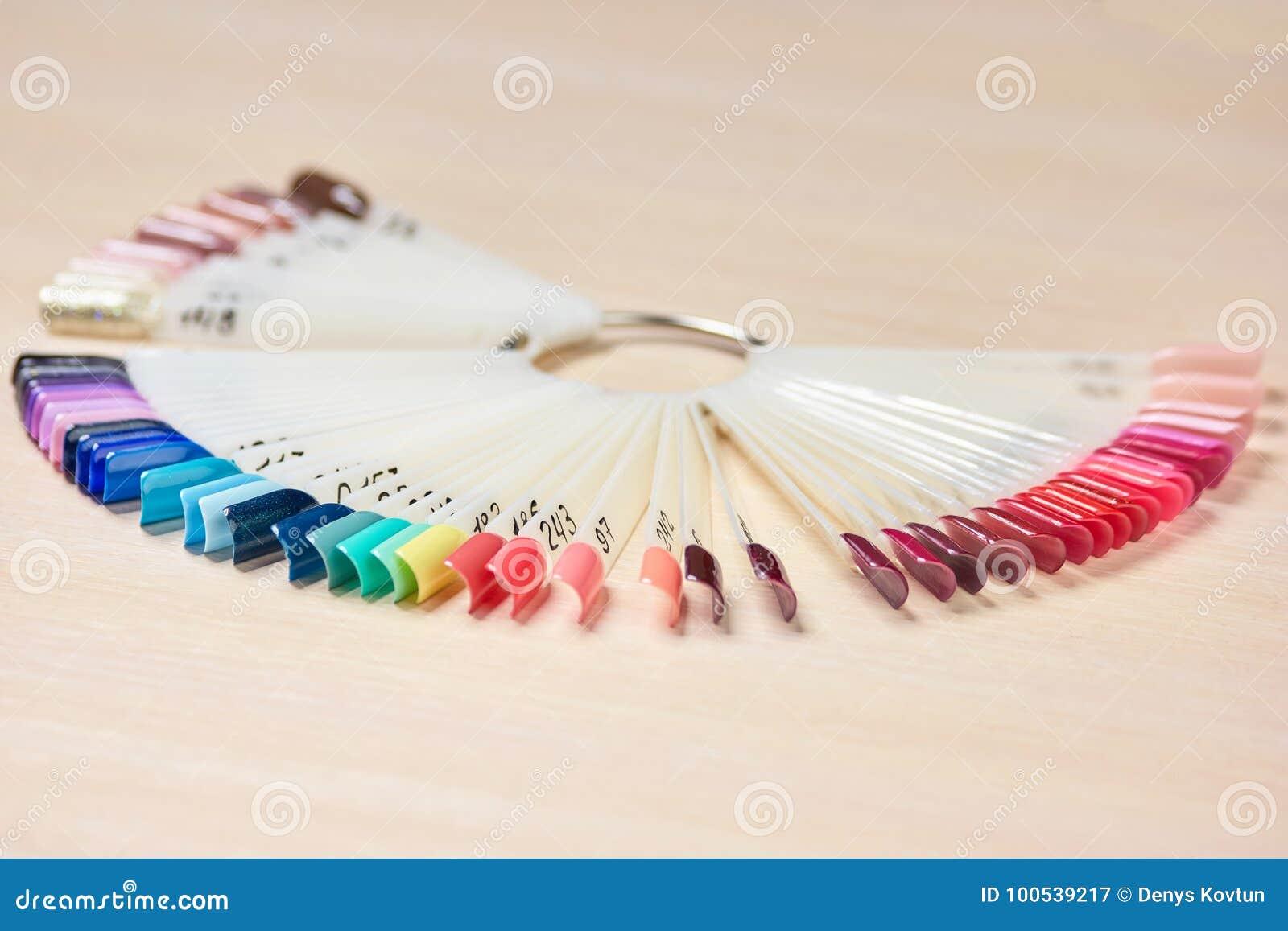 Samples Of Color Nail Polish Stock Image Image Of Amount Choice