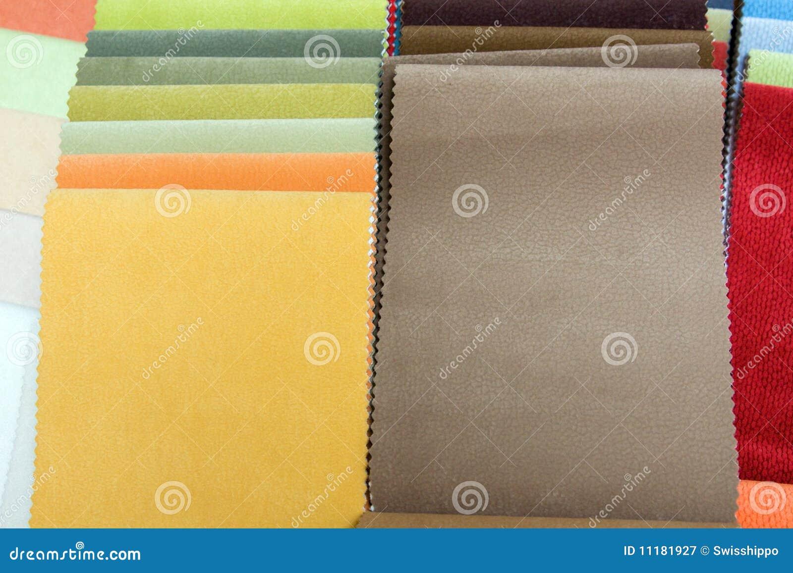 Samples upholstery