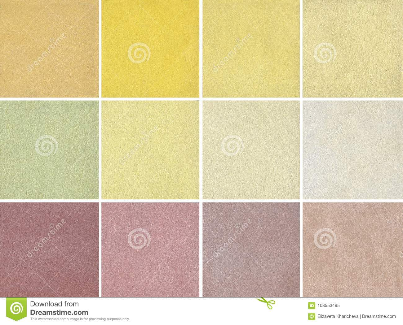 Samples Of Warm Color - Decorative Plaster, Coating - Silk Stock ...