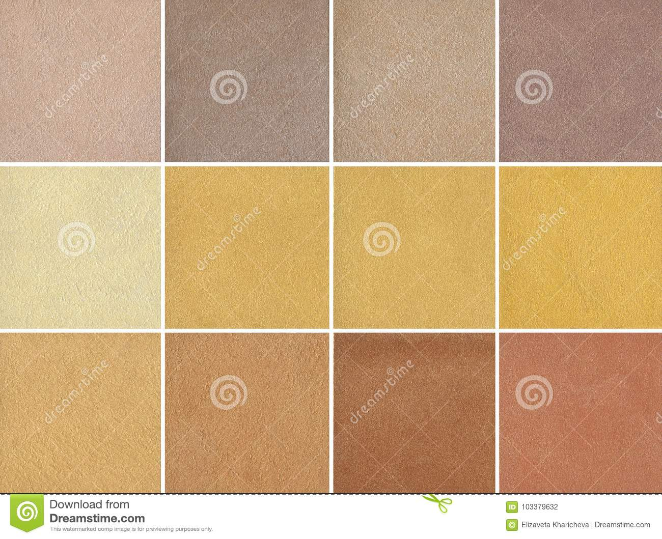 Samples - Yellow Color - Expensive Decorative Coating - Silk Stock ...