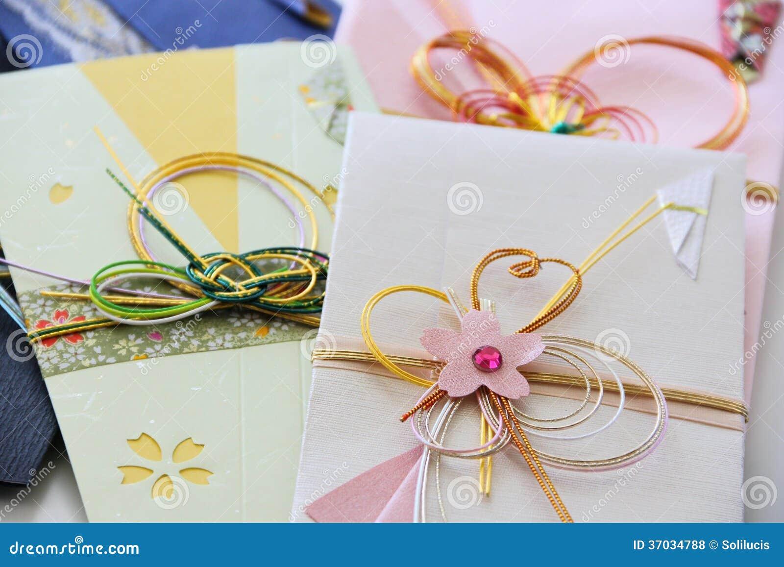 Sampling Of Japanese Money Envelopes Stock Photo - Image of present ...