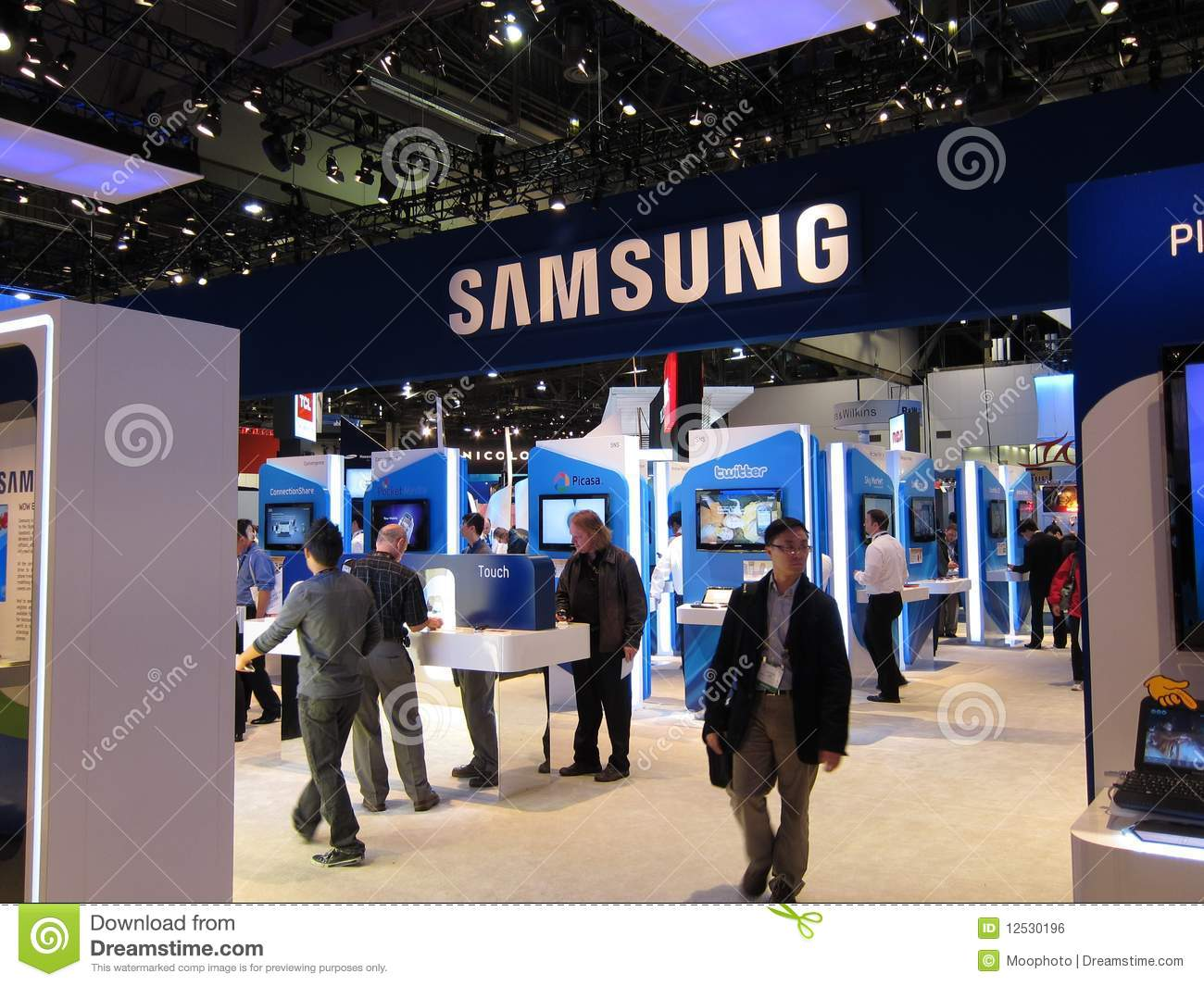 3d Exhibition Booth : Samsung convention booth at ces editorial photo
