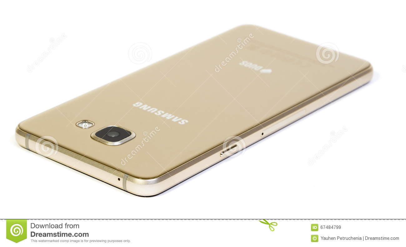 Samsung Galaxy A5 (2016) Gold Smartphone Editorial Stock Image - Image ...